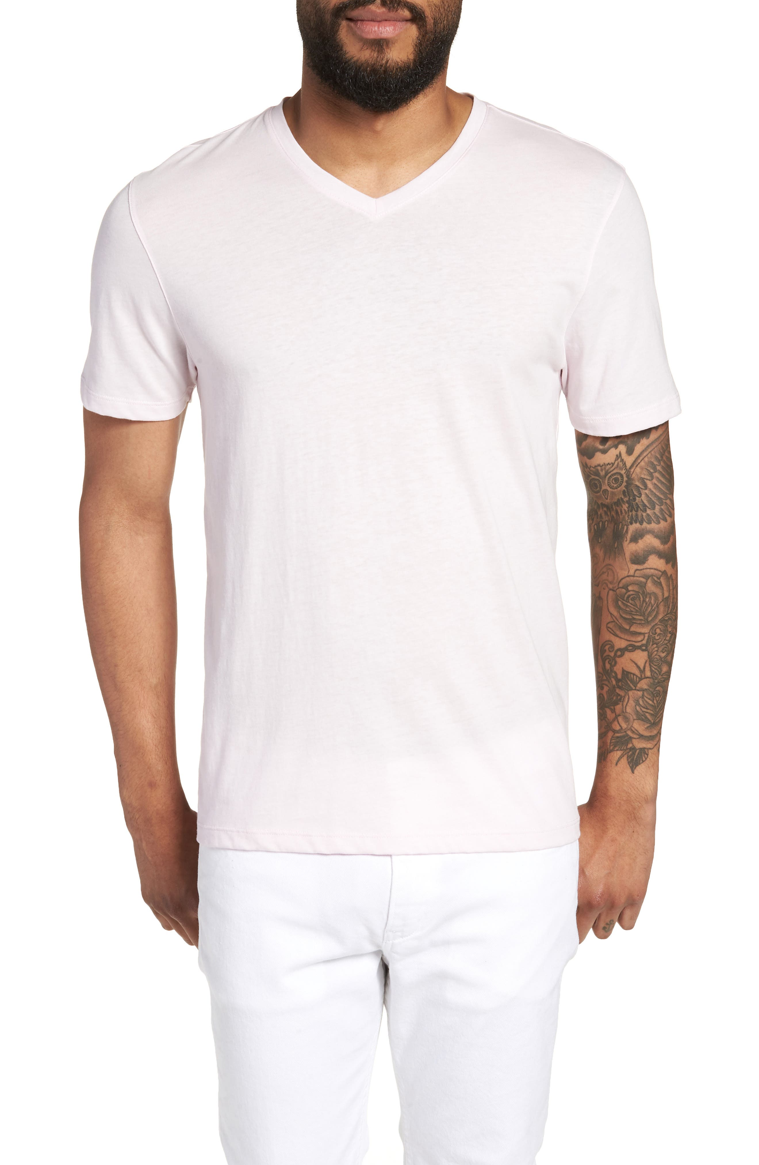 Mercer V-Neck T-Shirt,                             Main thumbnail 1, color,                             Light Pink