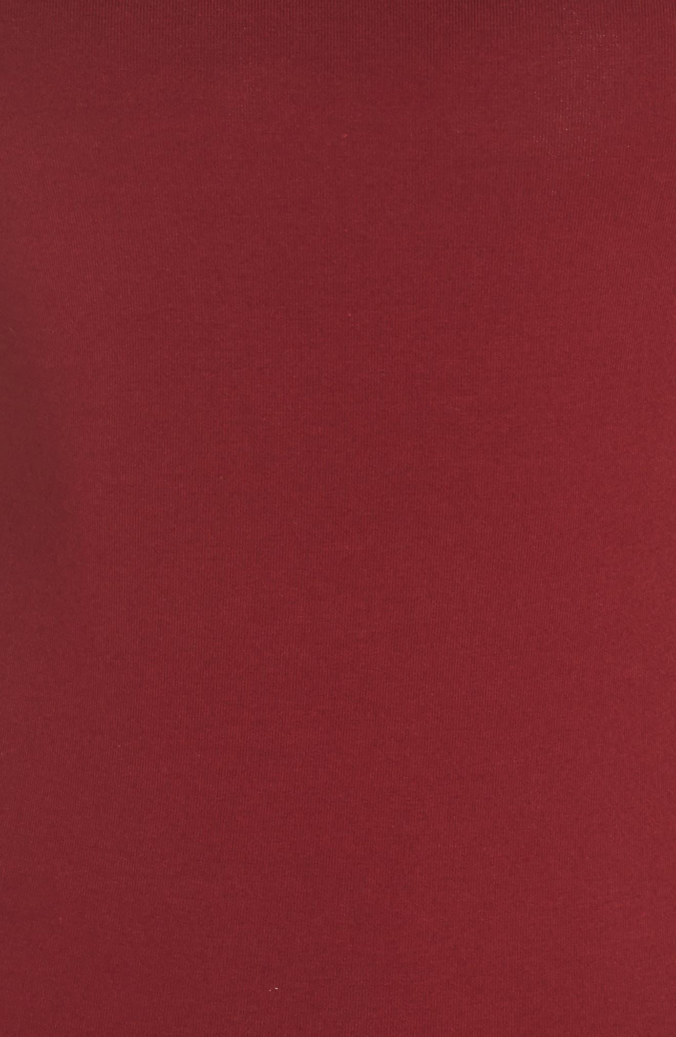 Originals 3-Stripes Dress,                             Alternate thumbnail 6, color,                             Collegiate Burgundy