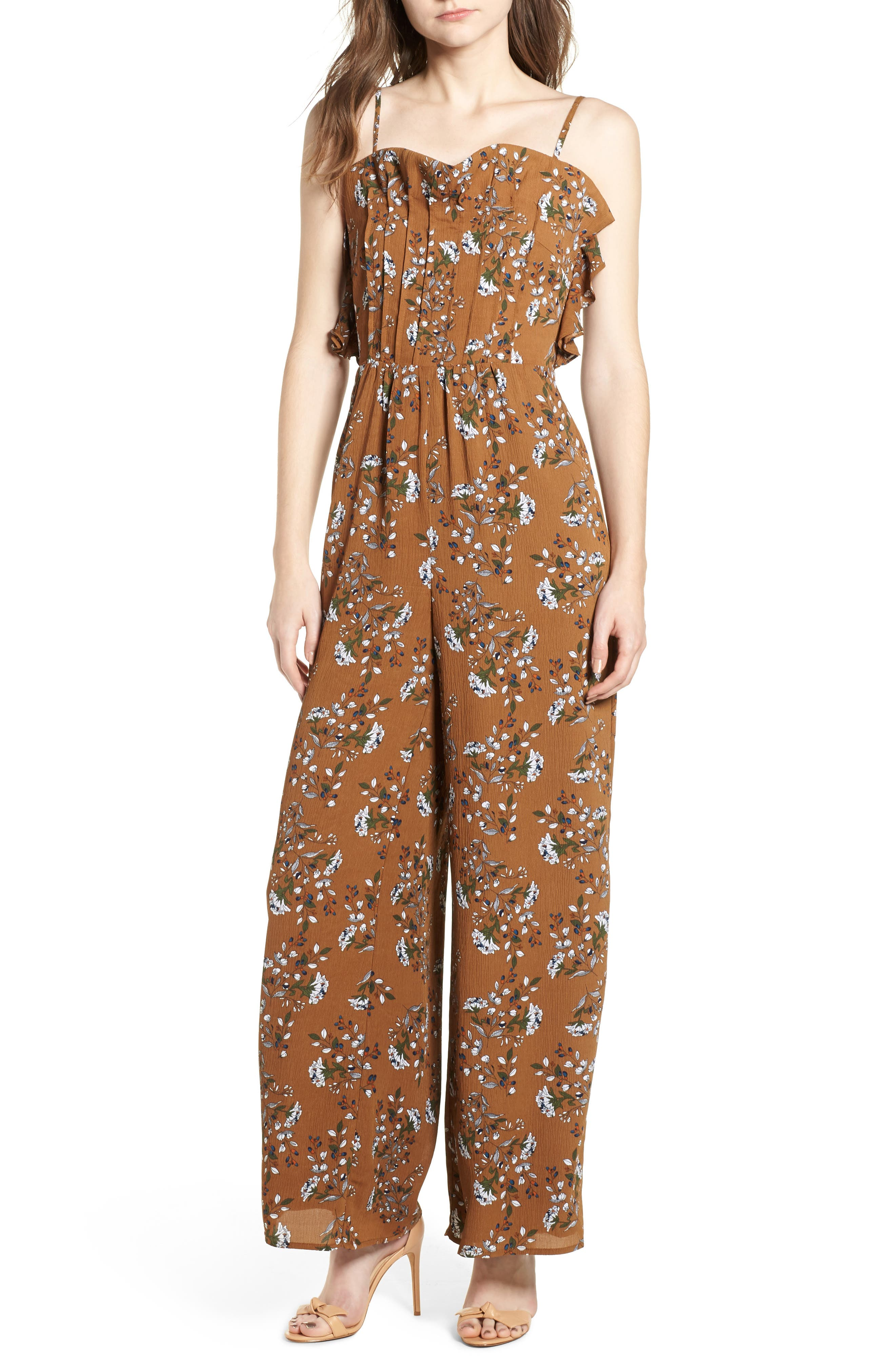 Melody Jumpsuit,                             Main thumbnail 1, color,                             Cocoa
