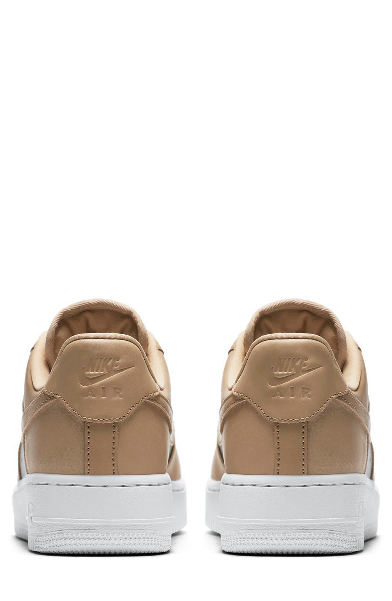 Air Force 1 '07 SE Premium Sneaker,                             Alternate thumbnail 2, color,                             Beige/ Silver/ White
