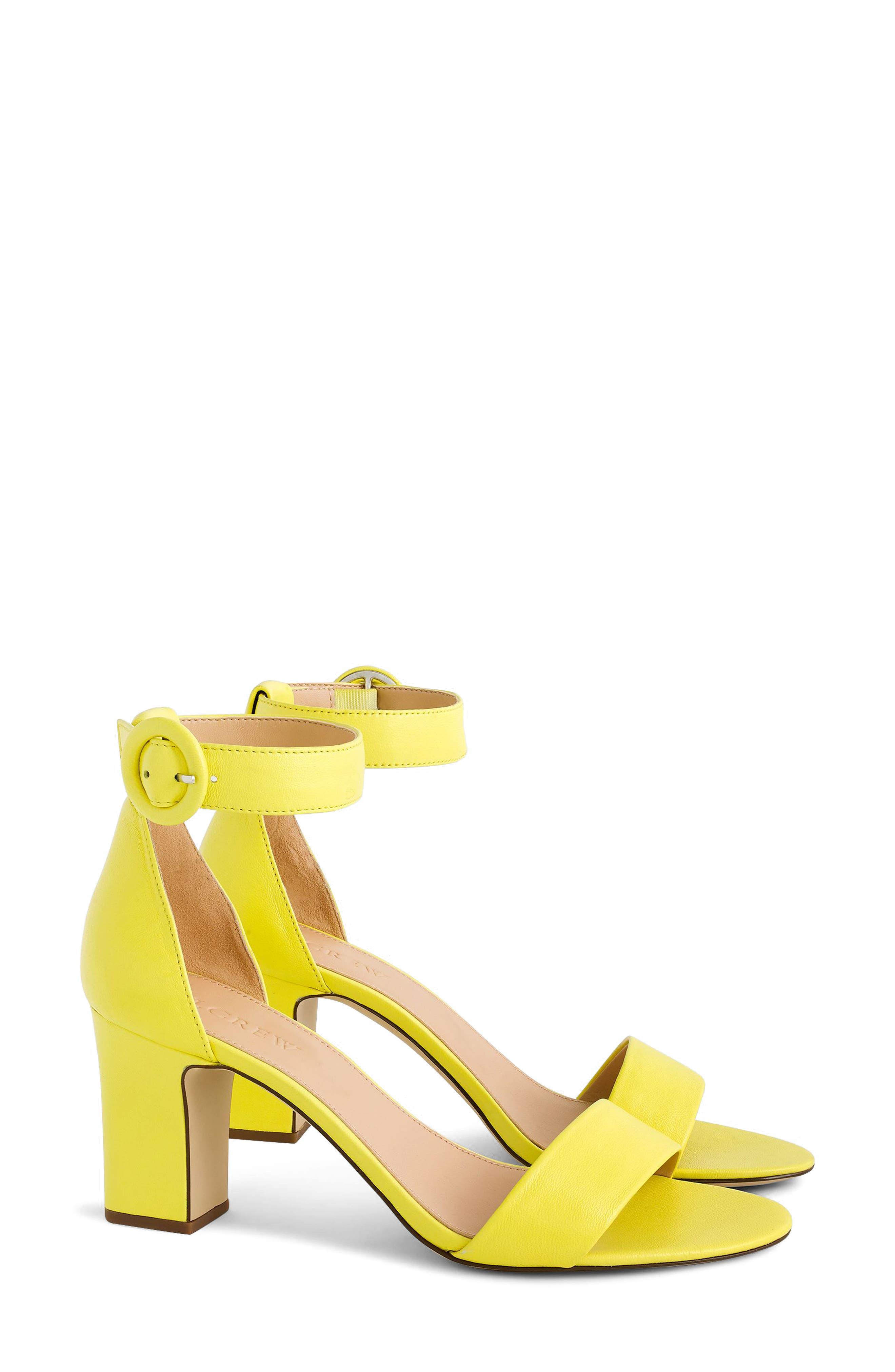 Remi Ankle Strap Sandal,                             Main thumbnail 1, color,                             Lemon Sorbet