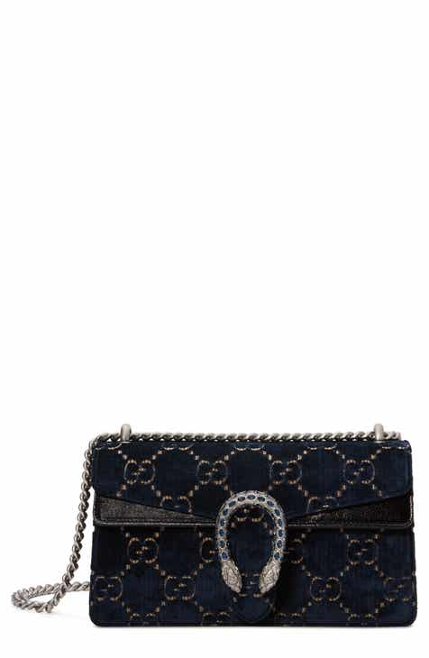 4981f13b8712 Gucci Small Dionysus GG Velvet Shoulder Bag