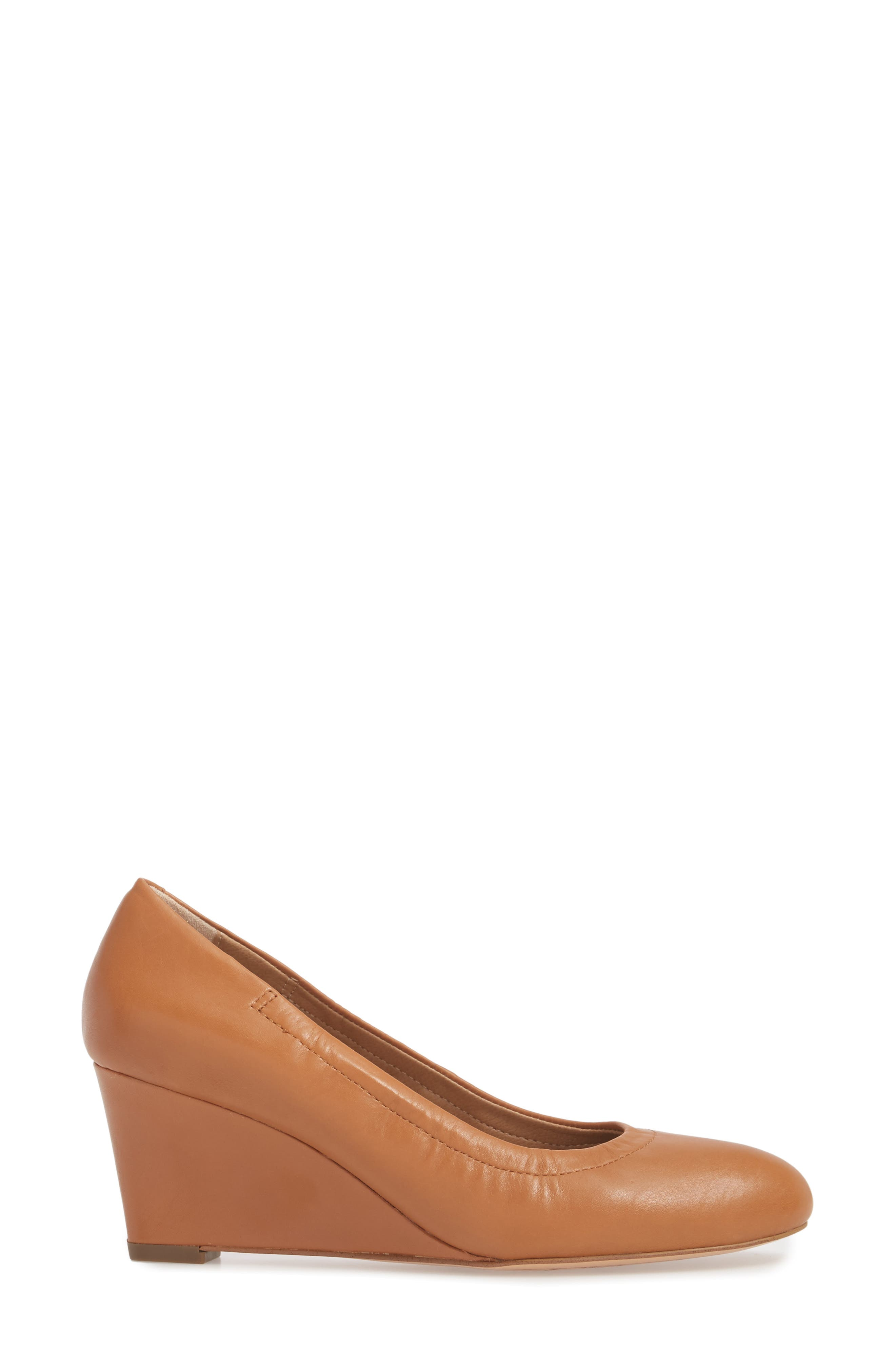 Camden Wedge,                             Alternate thumbnail 3, color,                             Tan Leather