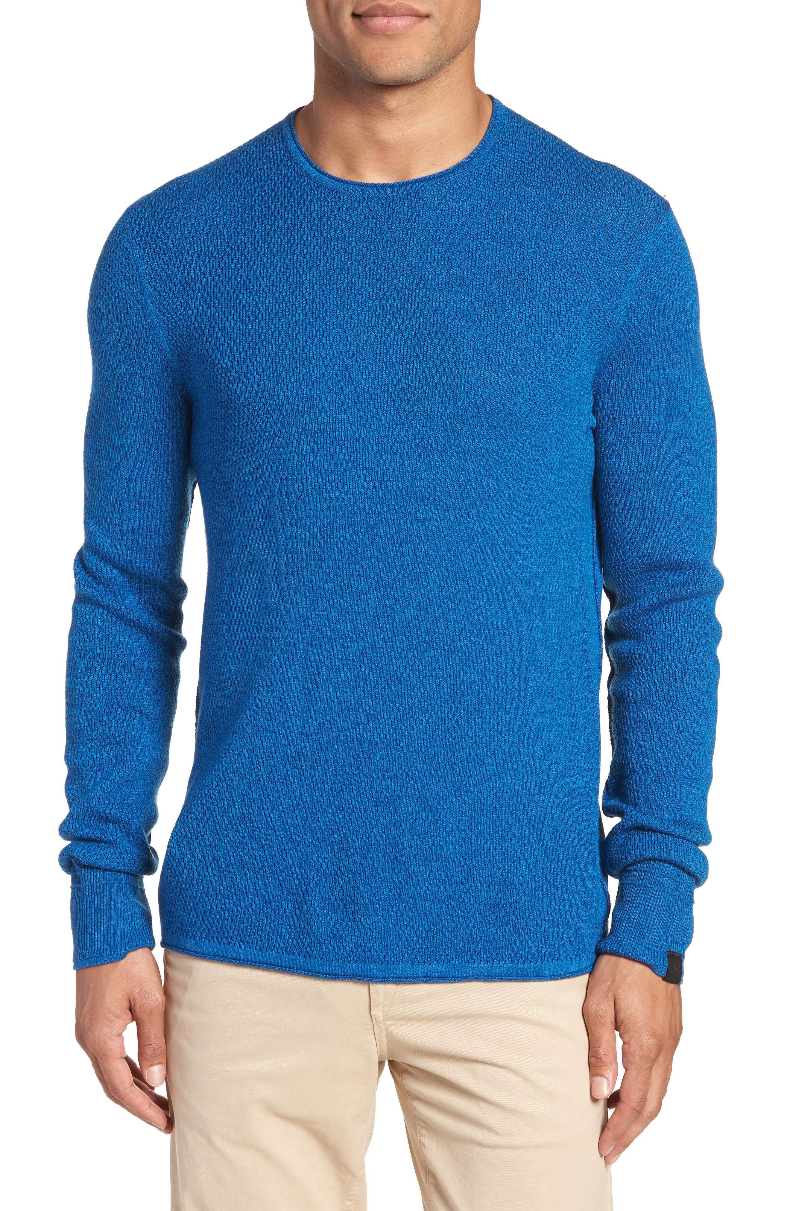 Gregory Wool Blend Crewneck Sweater,                         Main,                         color, Bright Blue