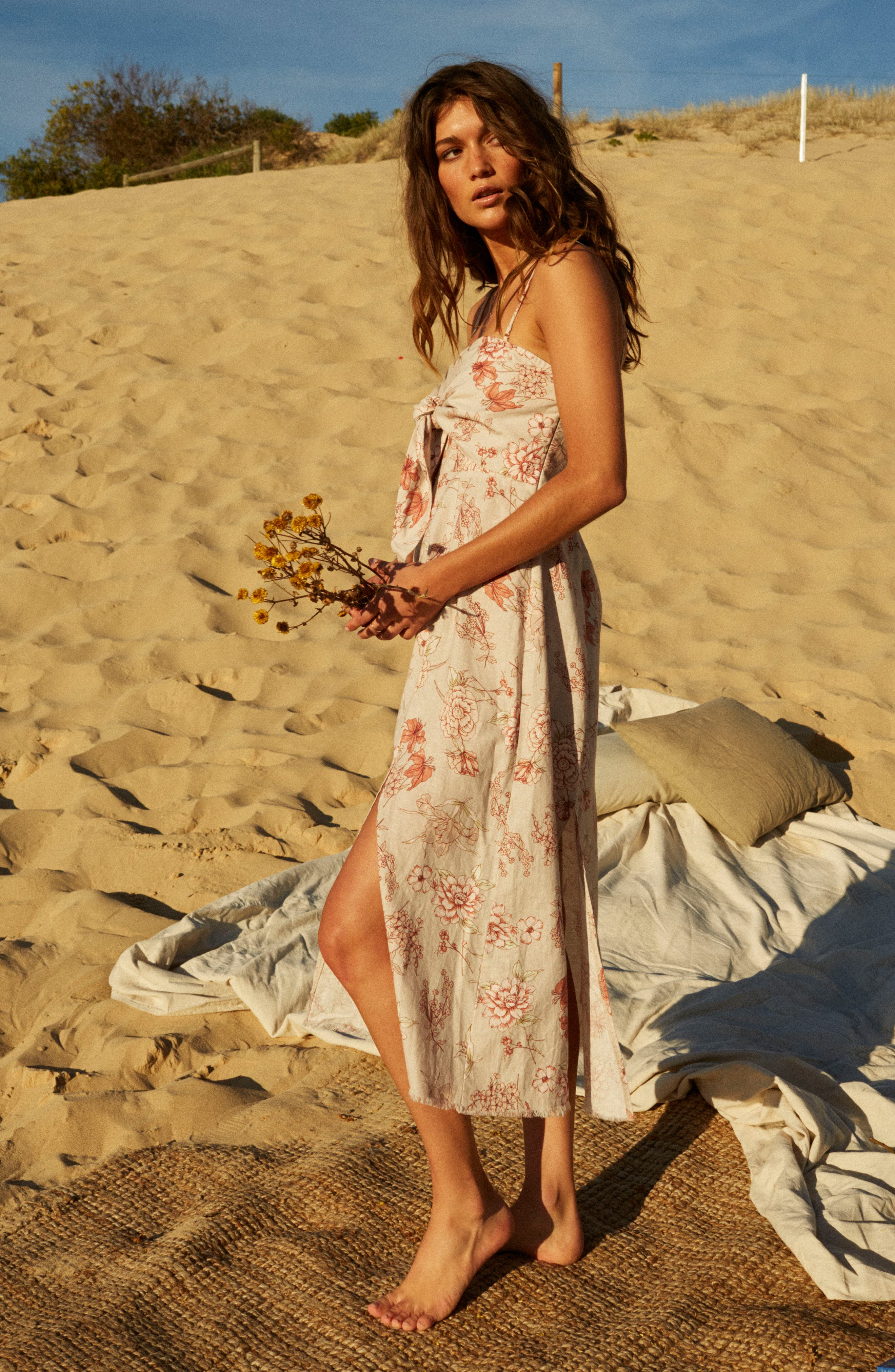 Golden Sky Midi Dress,                             Alternate thumbnail 10, color,
