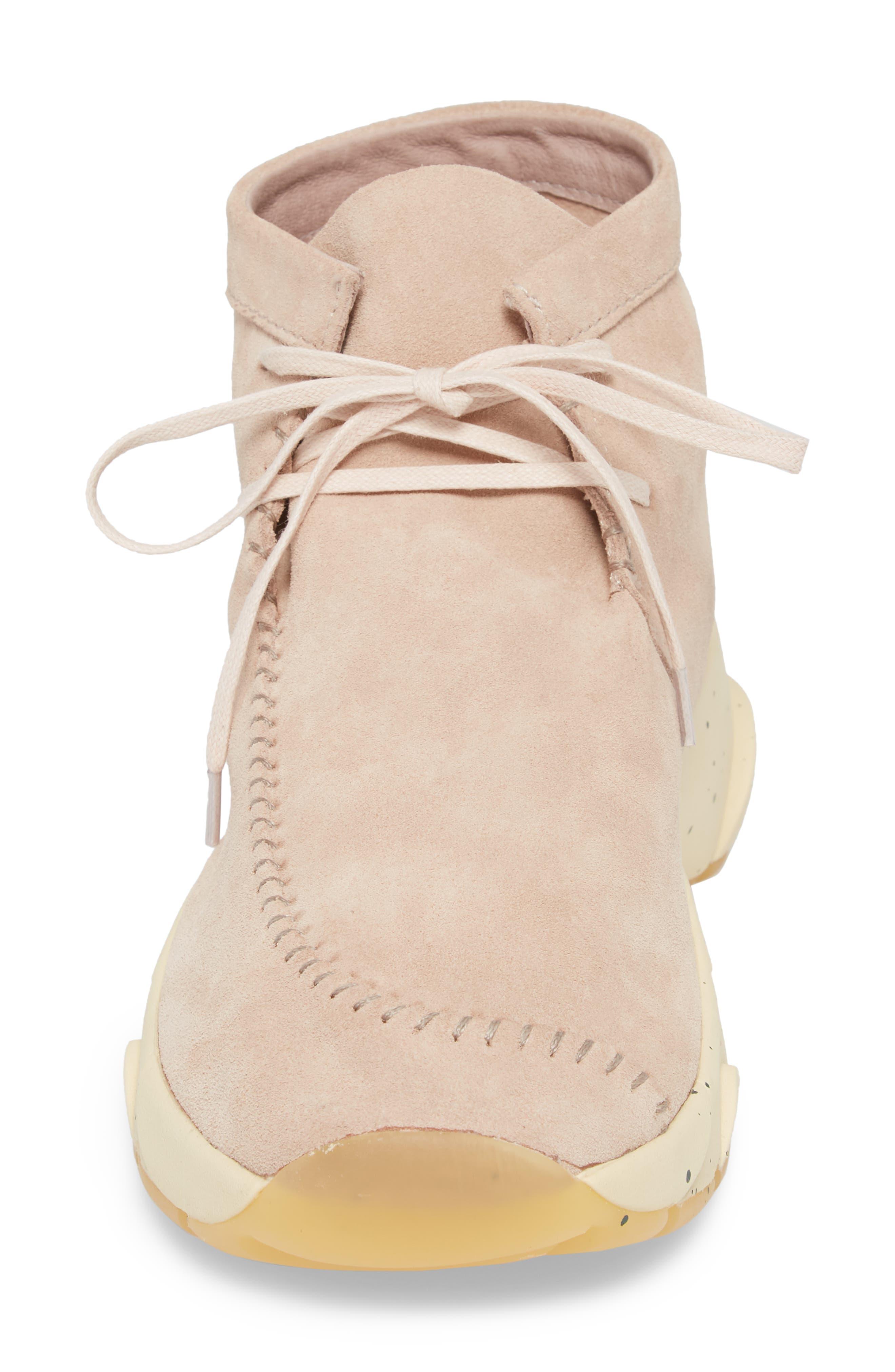 Castas Asymmetrical Chukka Sneaker,                             Alternate thumbnail 4, color,                             Rose Dust