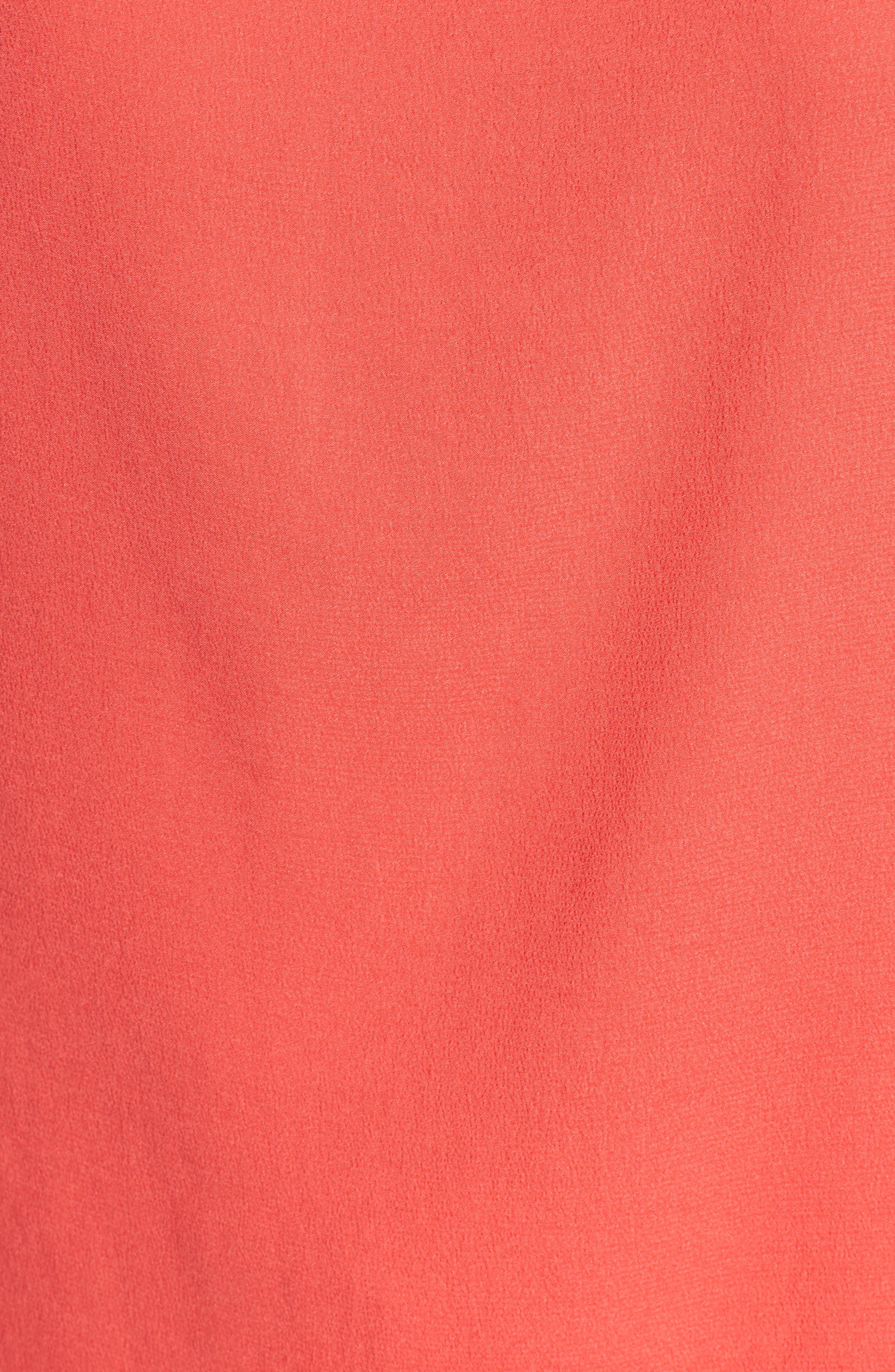 Asymmetrical Shoulder Top,                             Alternate thumbnail 6, color,                             Red Hibiscus