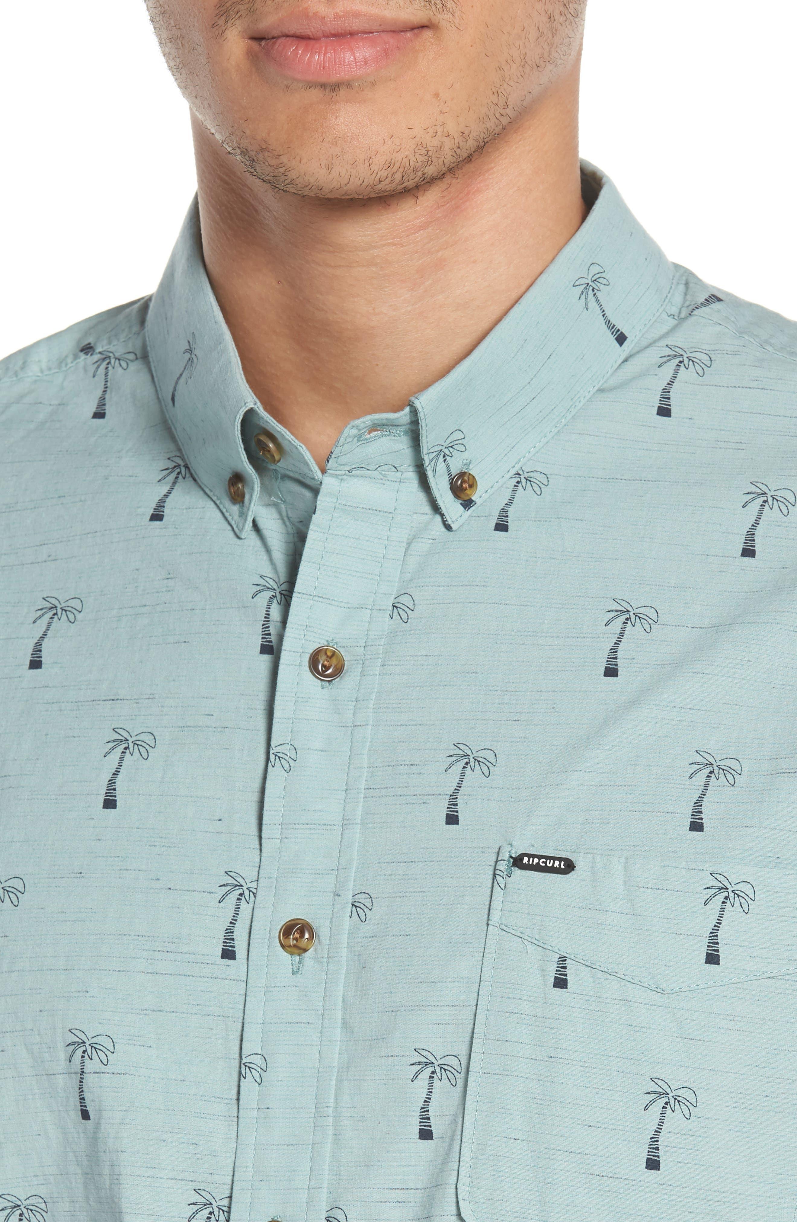 Riviera Woven Shirt,                             Alternate thumbnail 2, color,                             Aqua