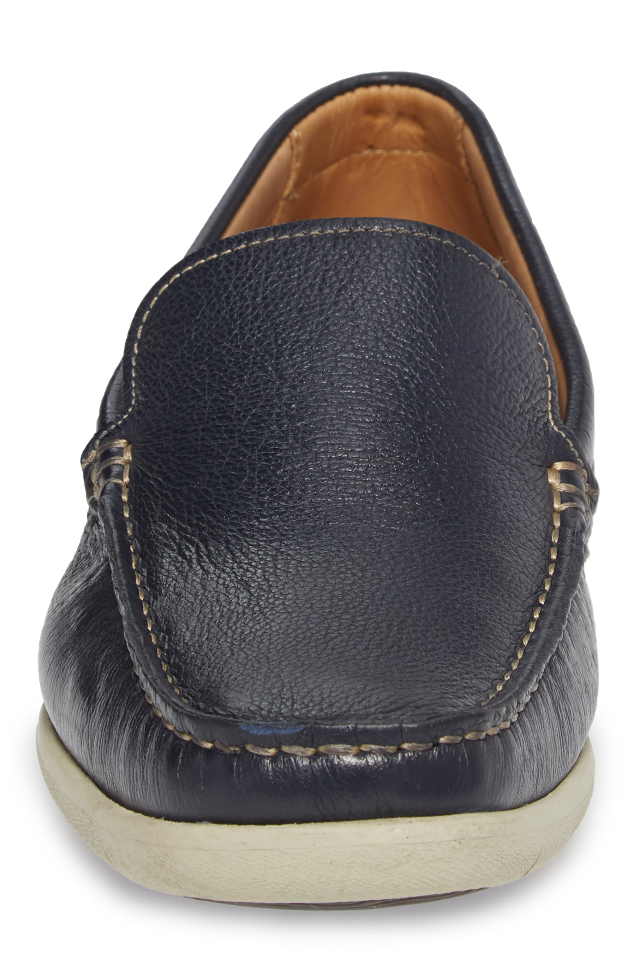 Calistoga Loafer,                             Alternate thumbnail 4, color,                             Navy Leather