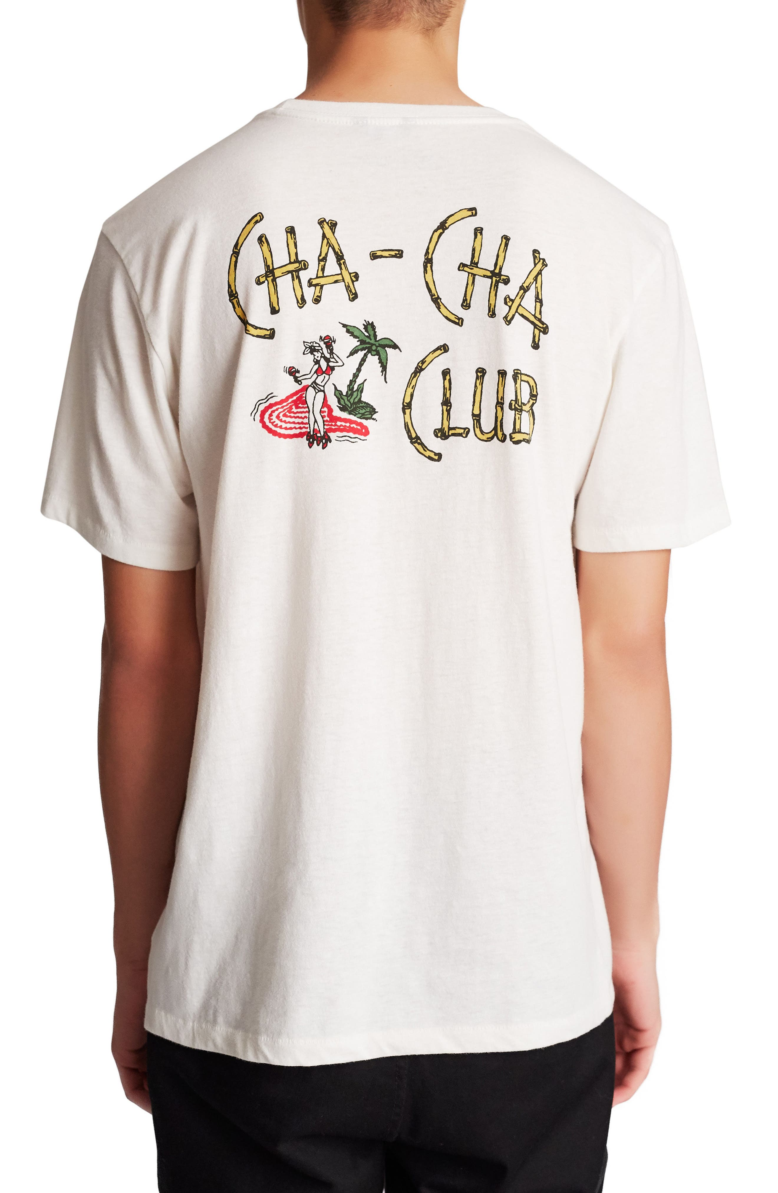Cha Cha Graphic T-Shirt,                             Alternate thumbnail 2, color,                             Off White