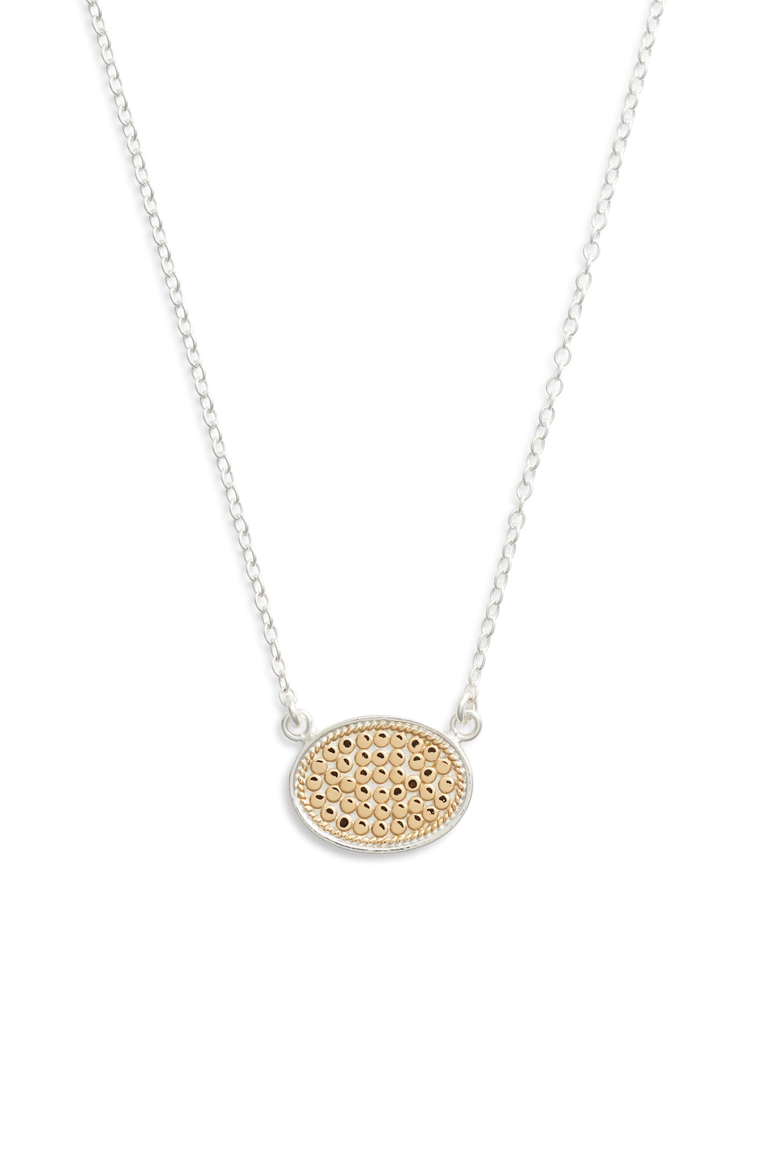 Reversible Oval Pendant Necklace by Anna Beck