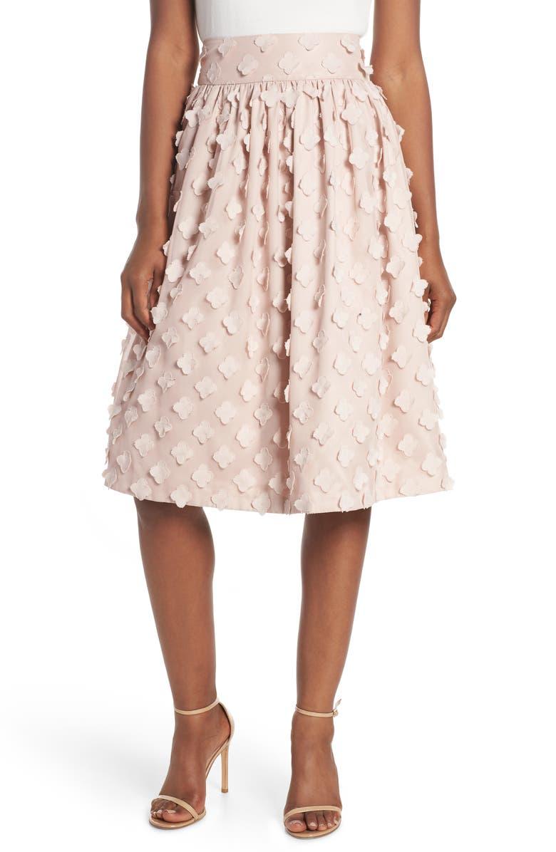 Flower Texture Gathered Skirt