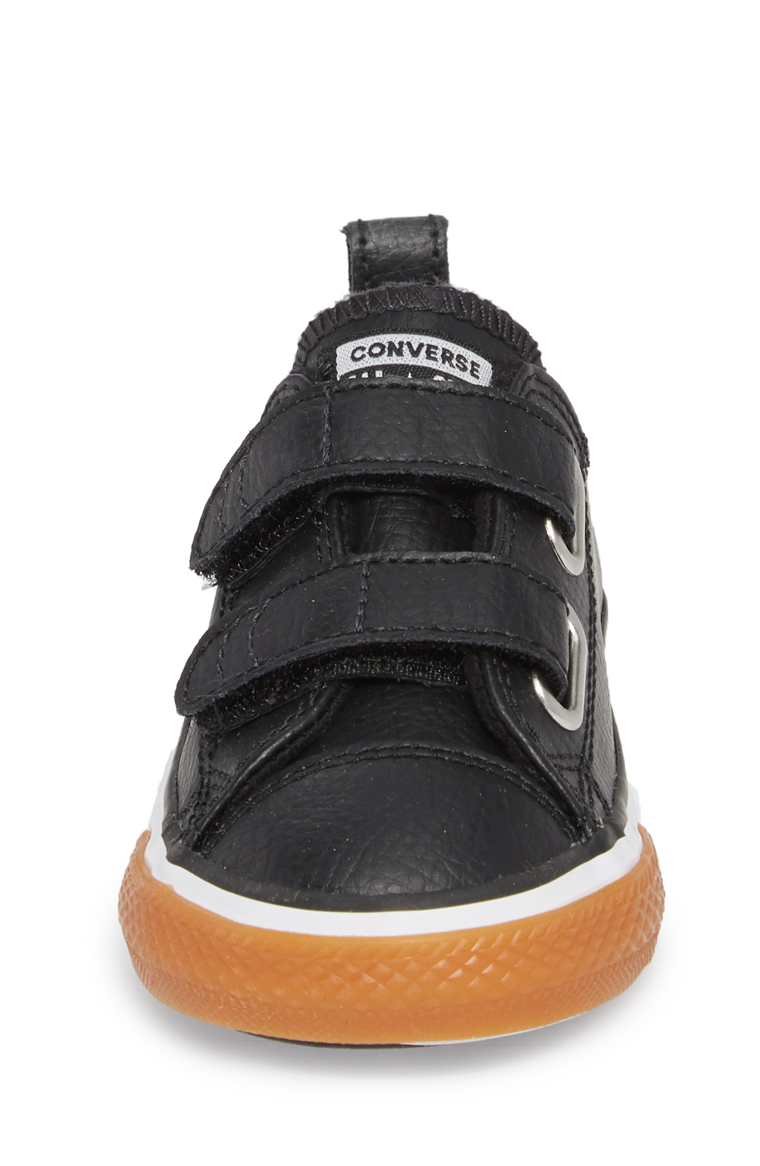 Chuck Taylor<sup>®</sup> All Star<sup>®</sup> 2V Faux Leather Sneaker,                             Alternate thumbnail 4, color,                             Black