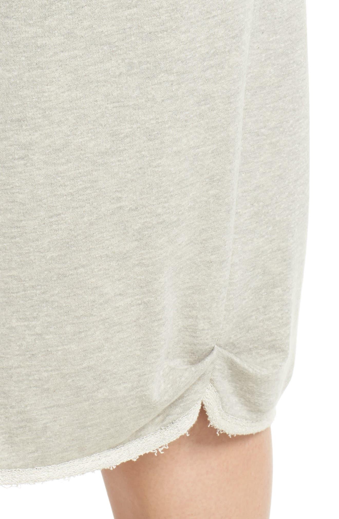 Drawstring Knit Skirt,                             Alternate thumbnail 4, color,                             Grey Heather