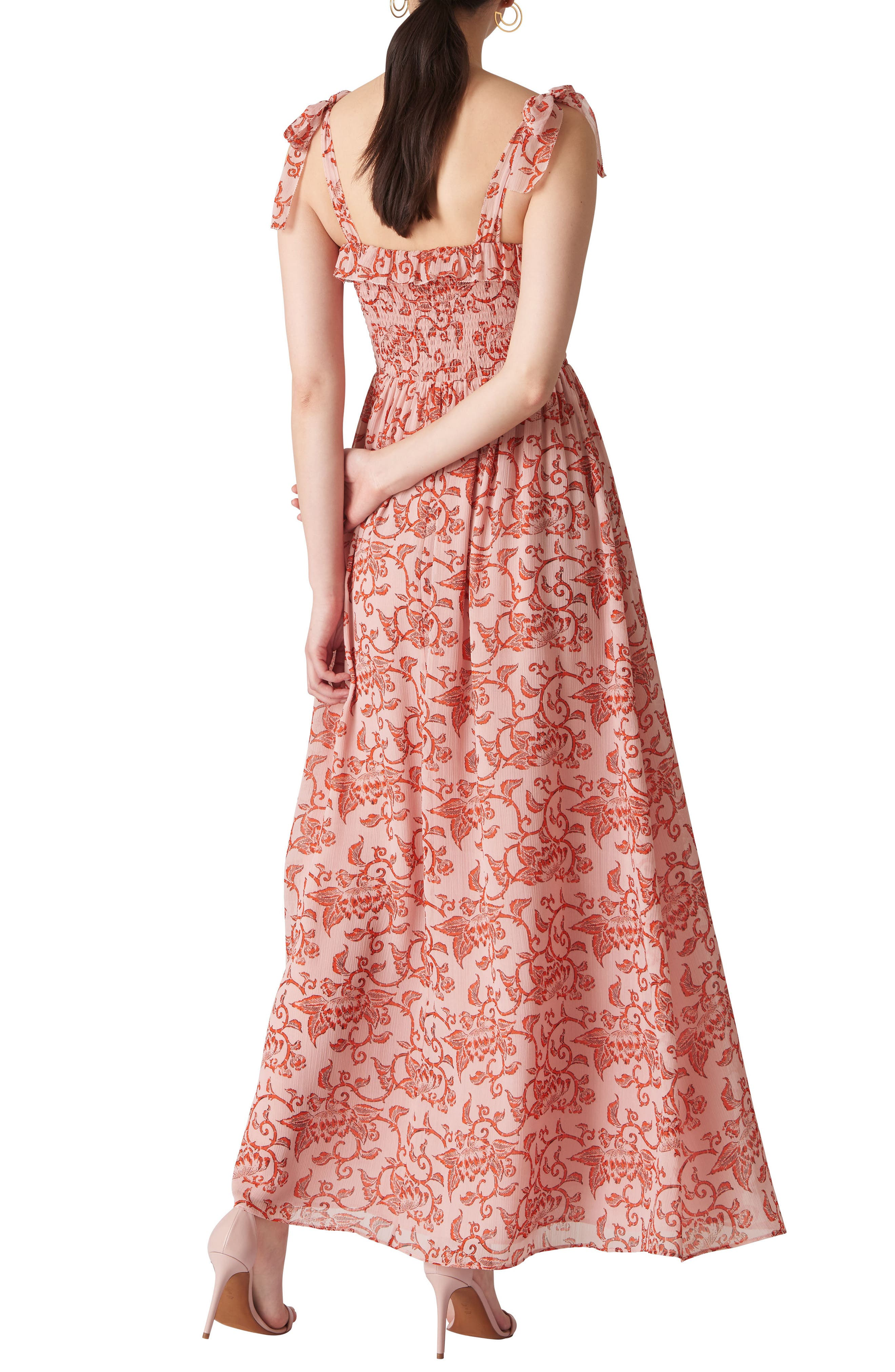 Bali Print Maxi Dress,                             Alternate thumbnail 2, color,                             Pink/ Multi
