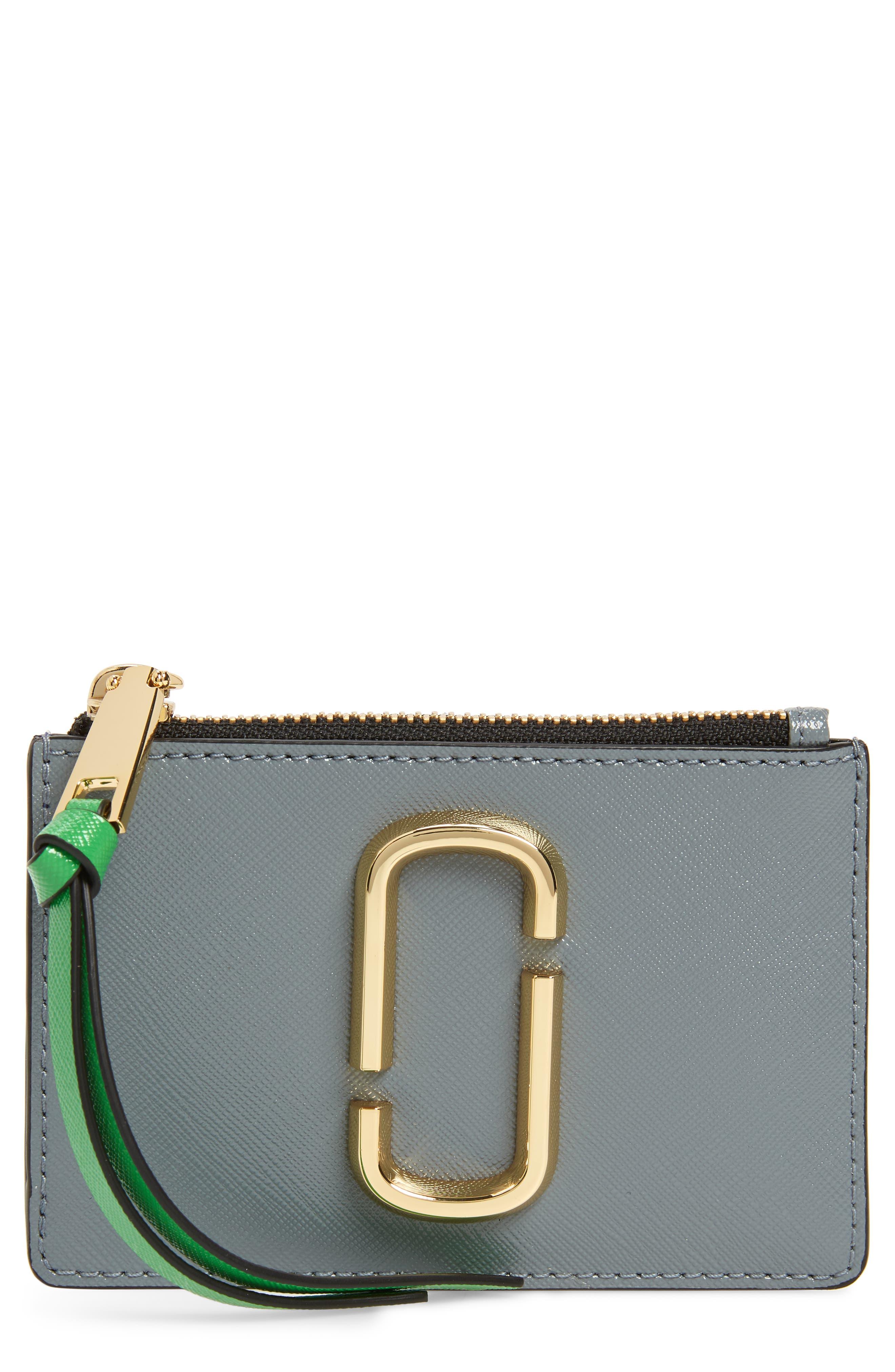 Snapshot Leather ID Wallet,                             Main thumbnail 1, color,                             Slate Multi