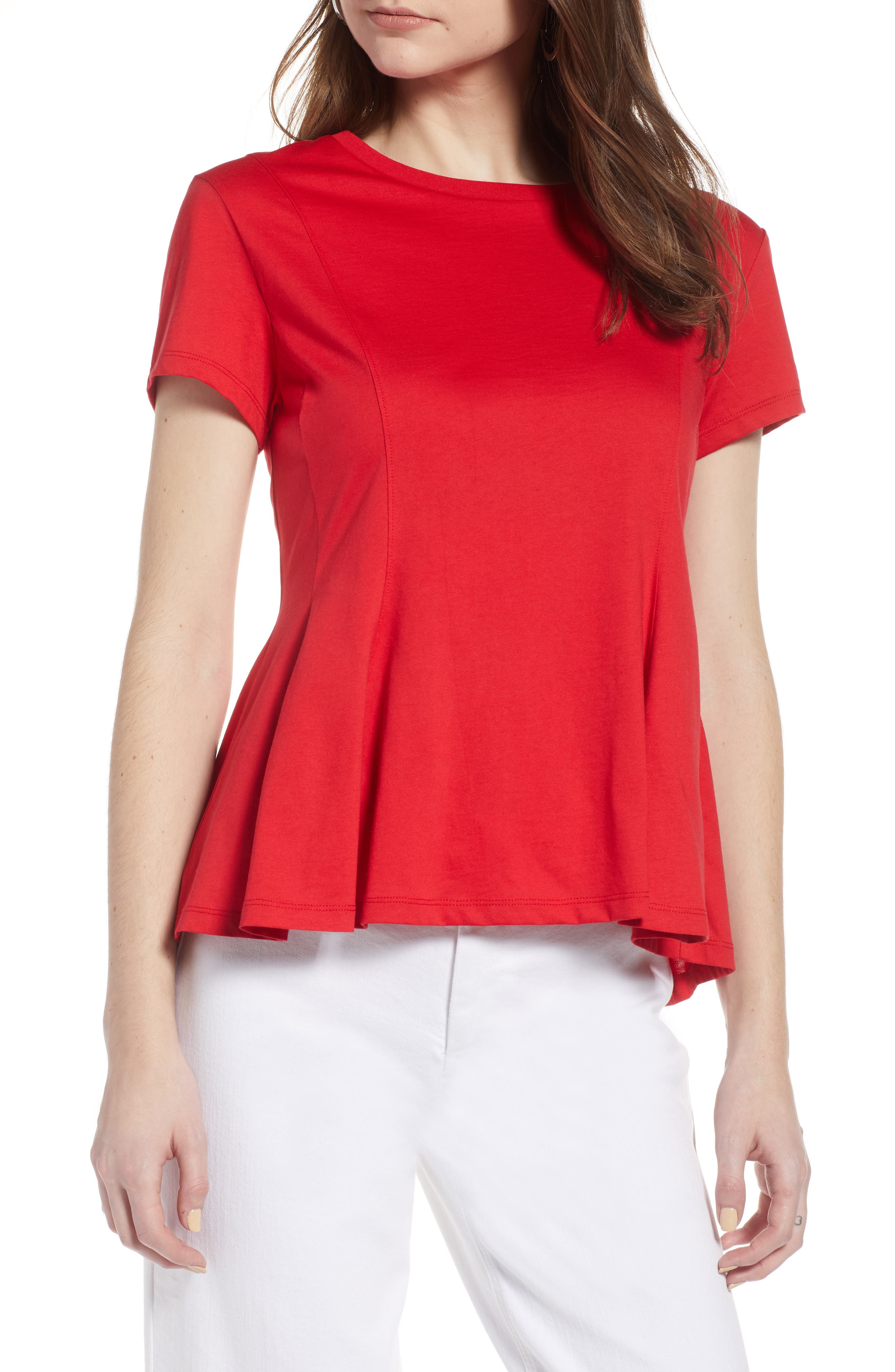 Swing Tee,                             Main thumbnail 1, color,                             Red Lipstick