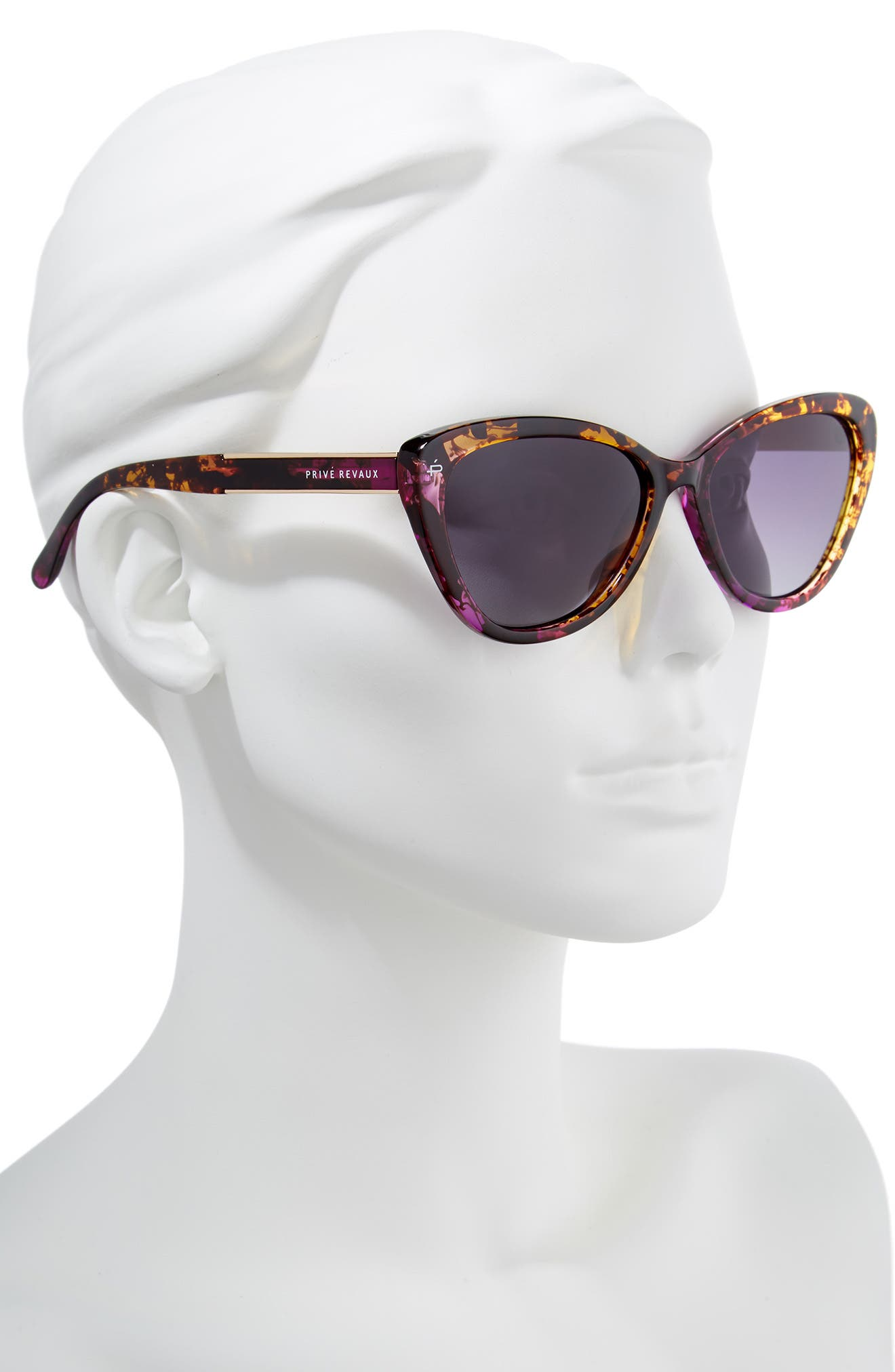 Privé Revaux The Hepburn 56mm Cat Eye Sunglasses,                             Alternate thumbnail 2, color,                             Purple