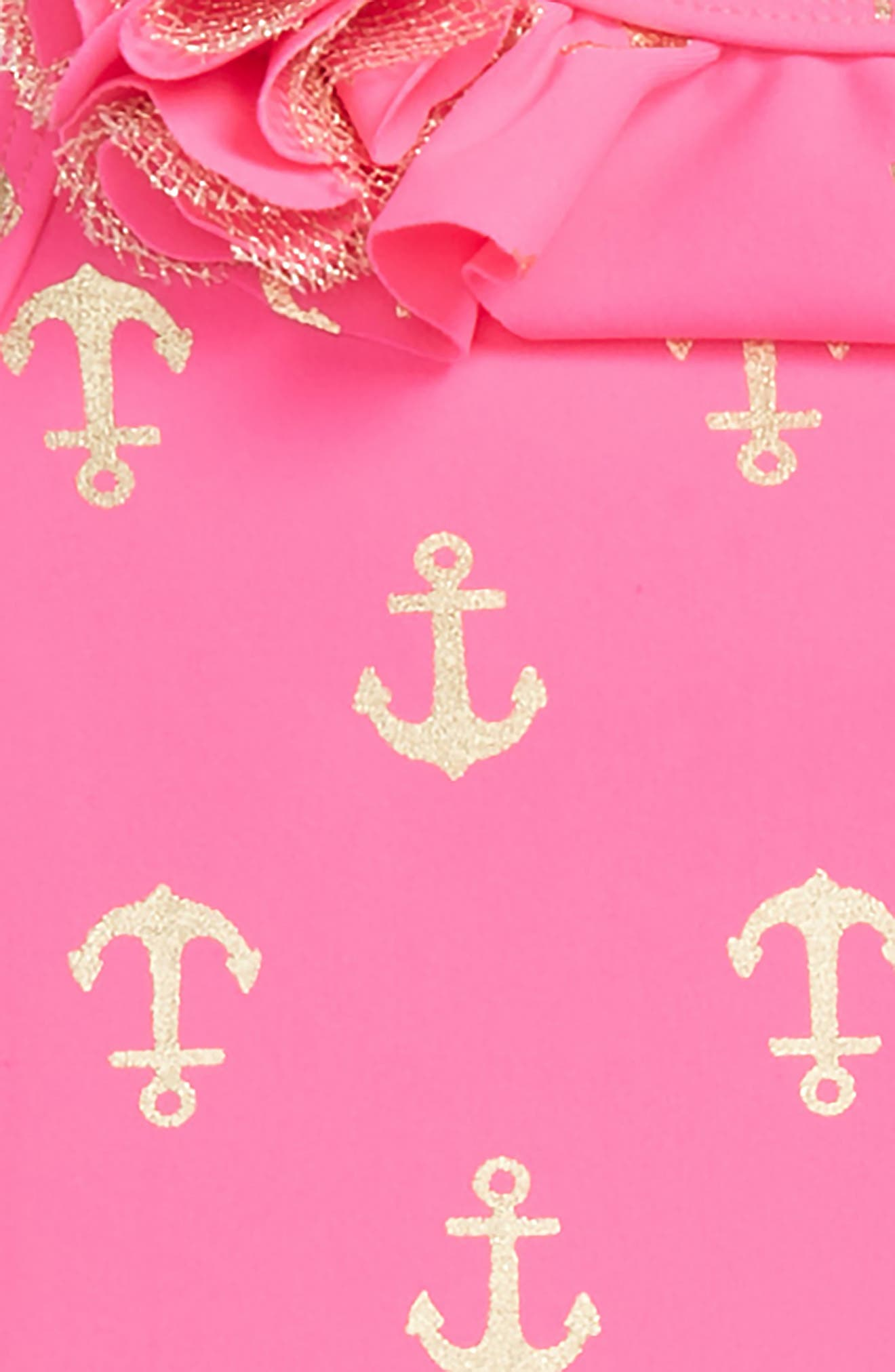Anchor Two-Piece Swimsuit,                             Alternate thumbnail 2, color,                             Hot Pink