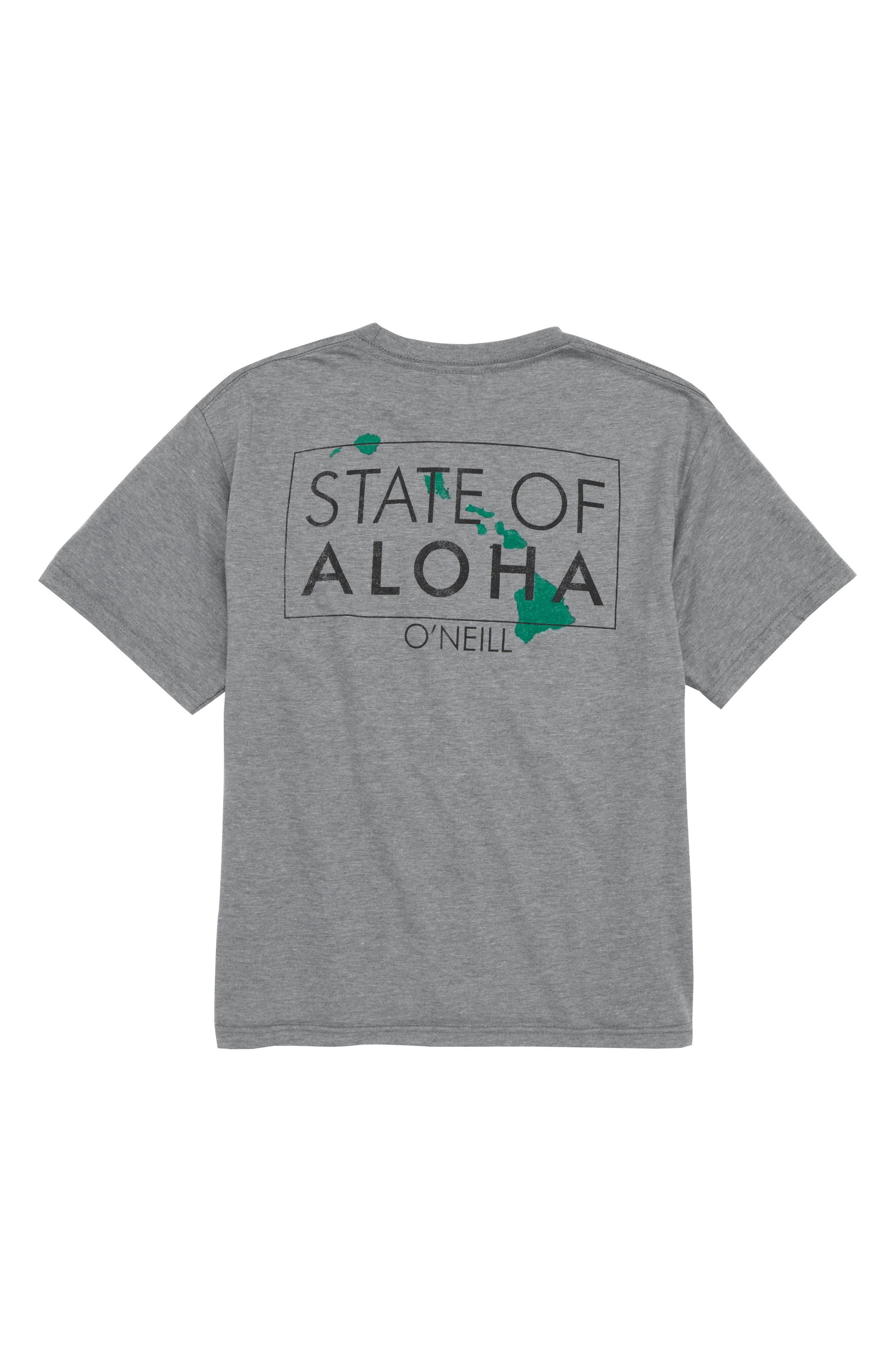 State of Aloha T-Shirt,                             Alternate thumbnail 2, color,                             Medium Heather Grey