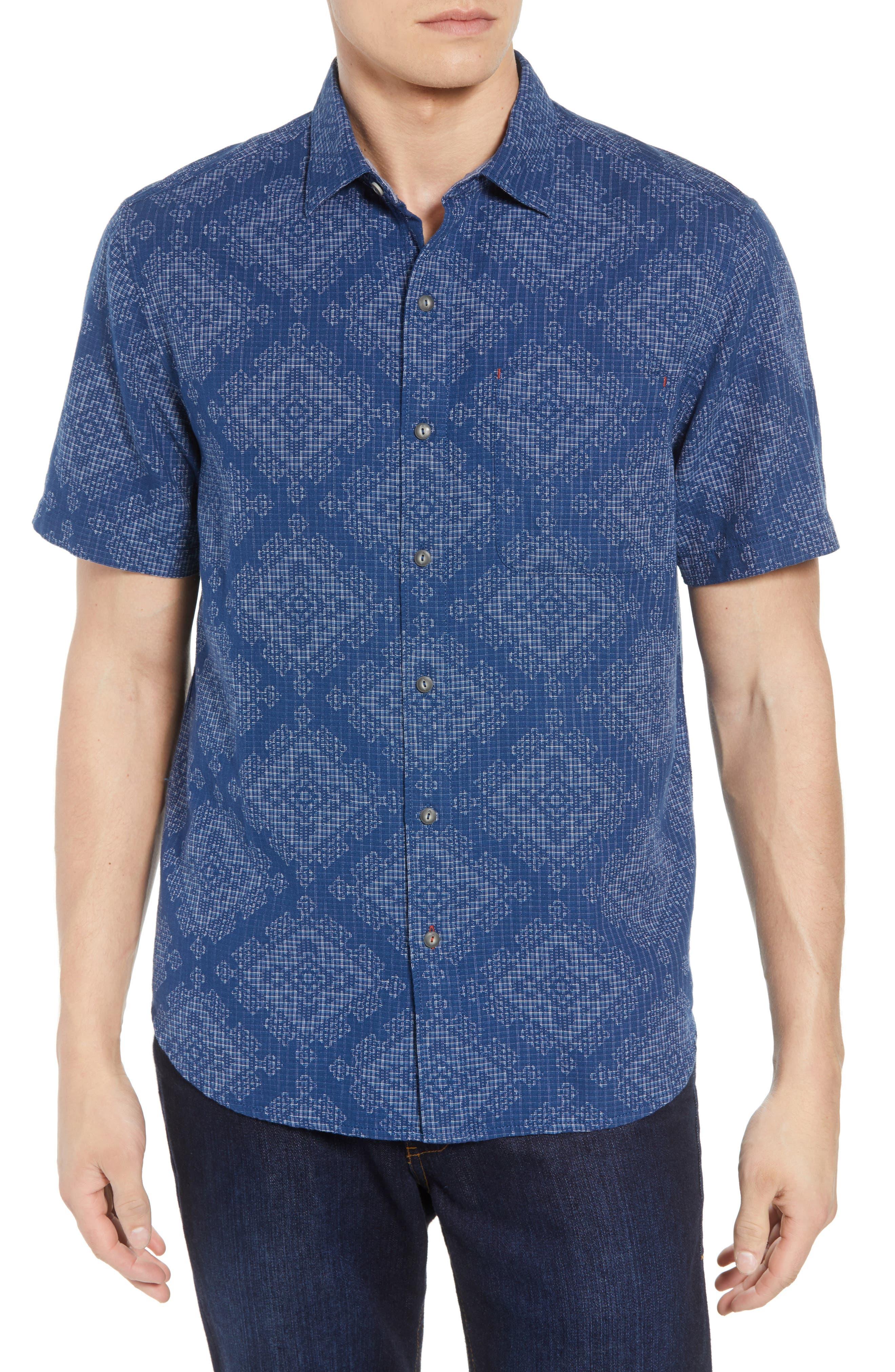 Geo de Mayo Sport Shirt,                         Main,                         color, Throne Blue