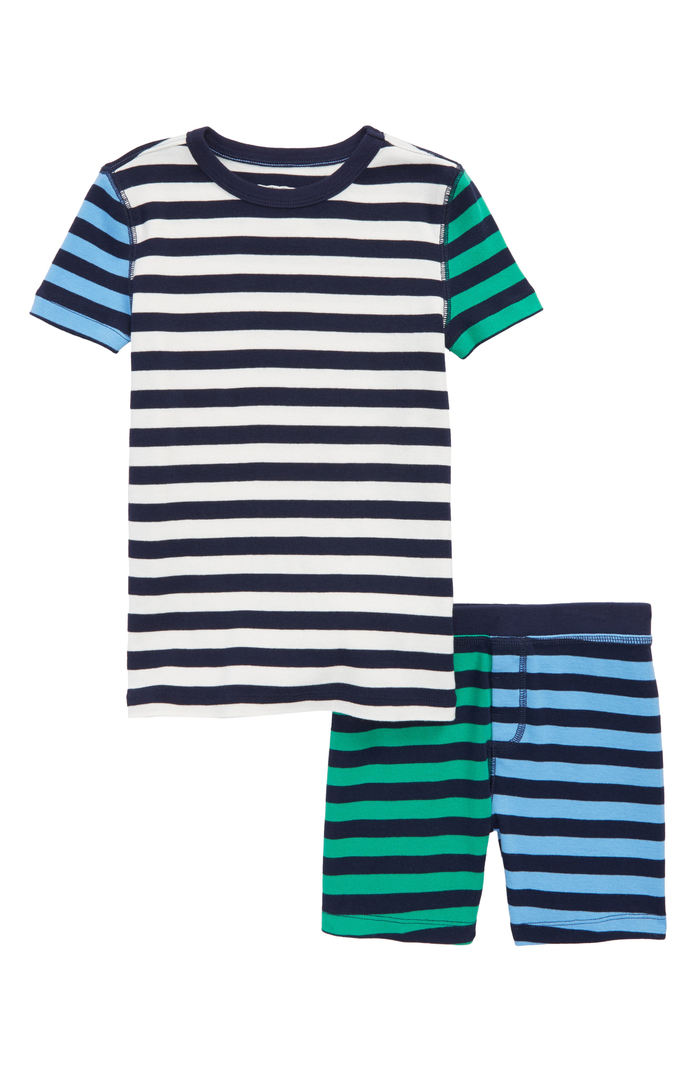 crewcuts by J.Crew Mixed Stripe Fitted Two-Piece Pajamas (Toddler Boys, Little Boys & Big Boys)