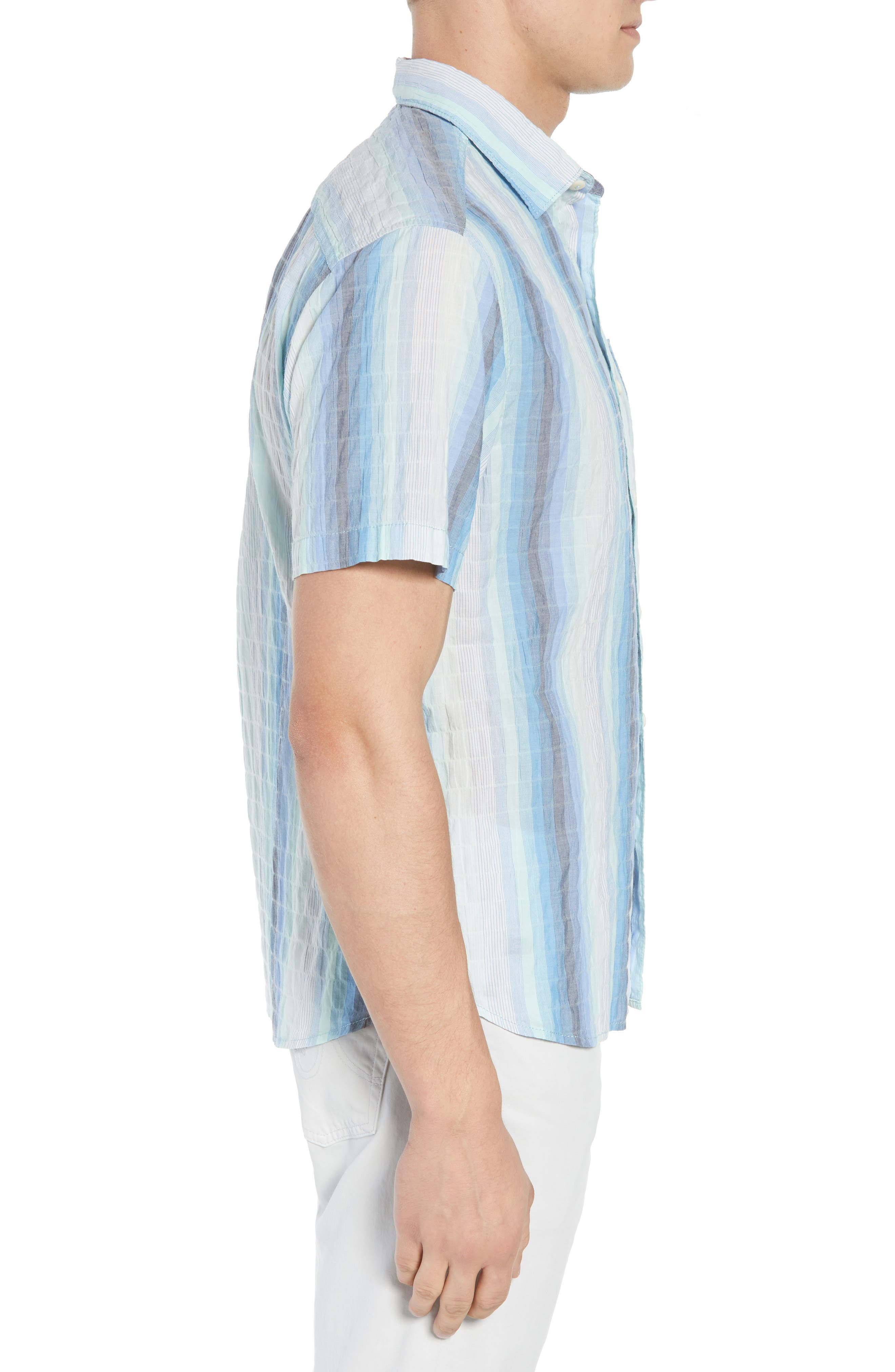 La Prisma Stripe Sport Shirt,                             Alternate thumbnail 4, color,                             Mint Mojito