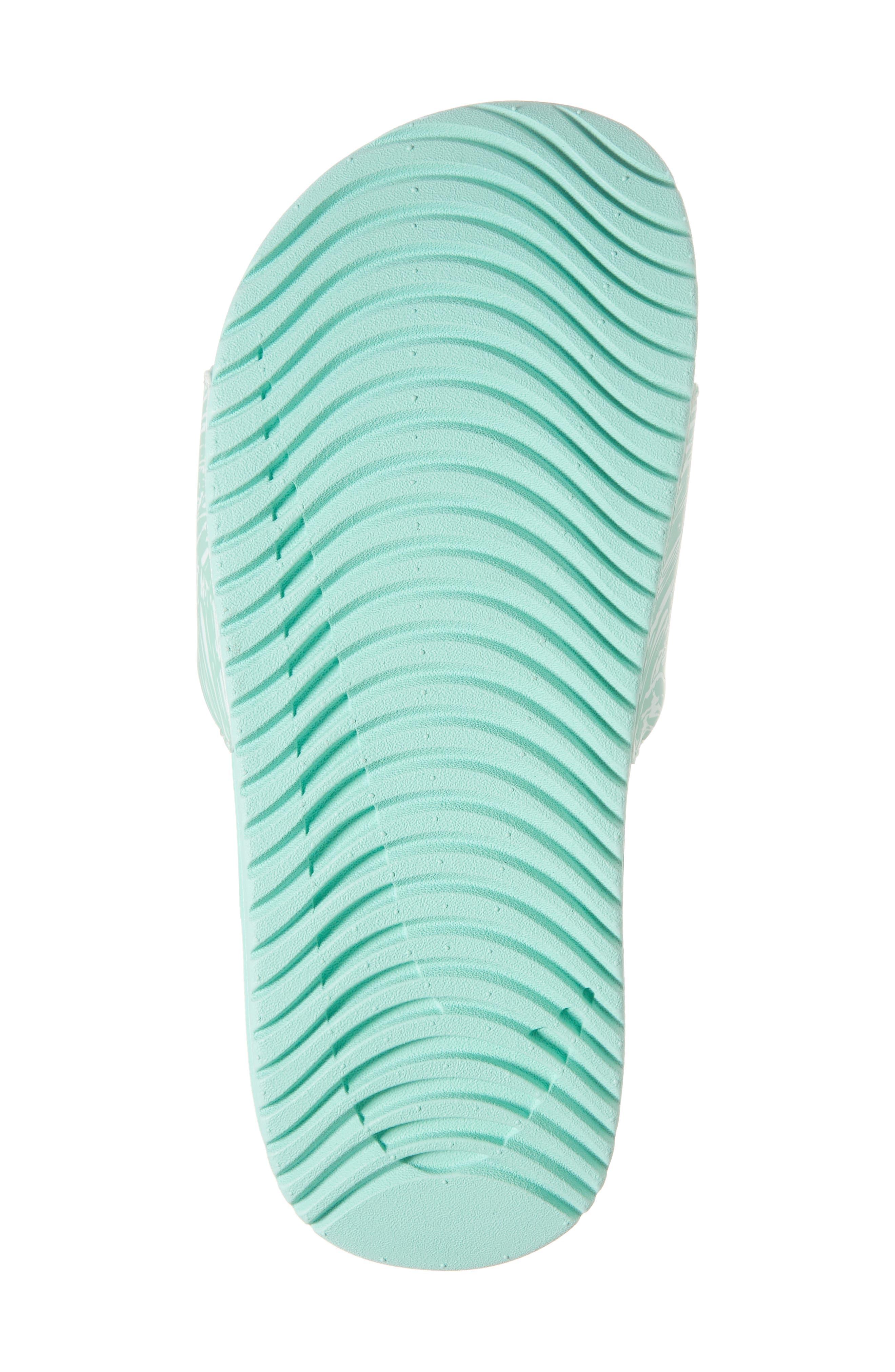 'Kawa' Print Slide Sandal,                             Alternate thumbnail 6, color,                             Emerald Rise/ White/ Igloo