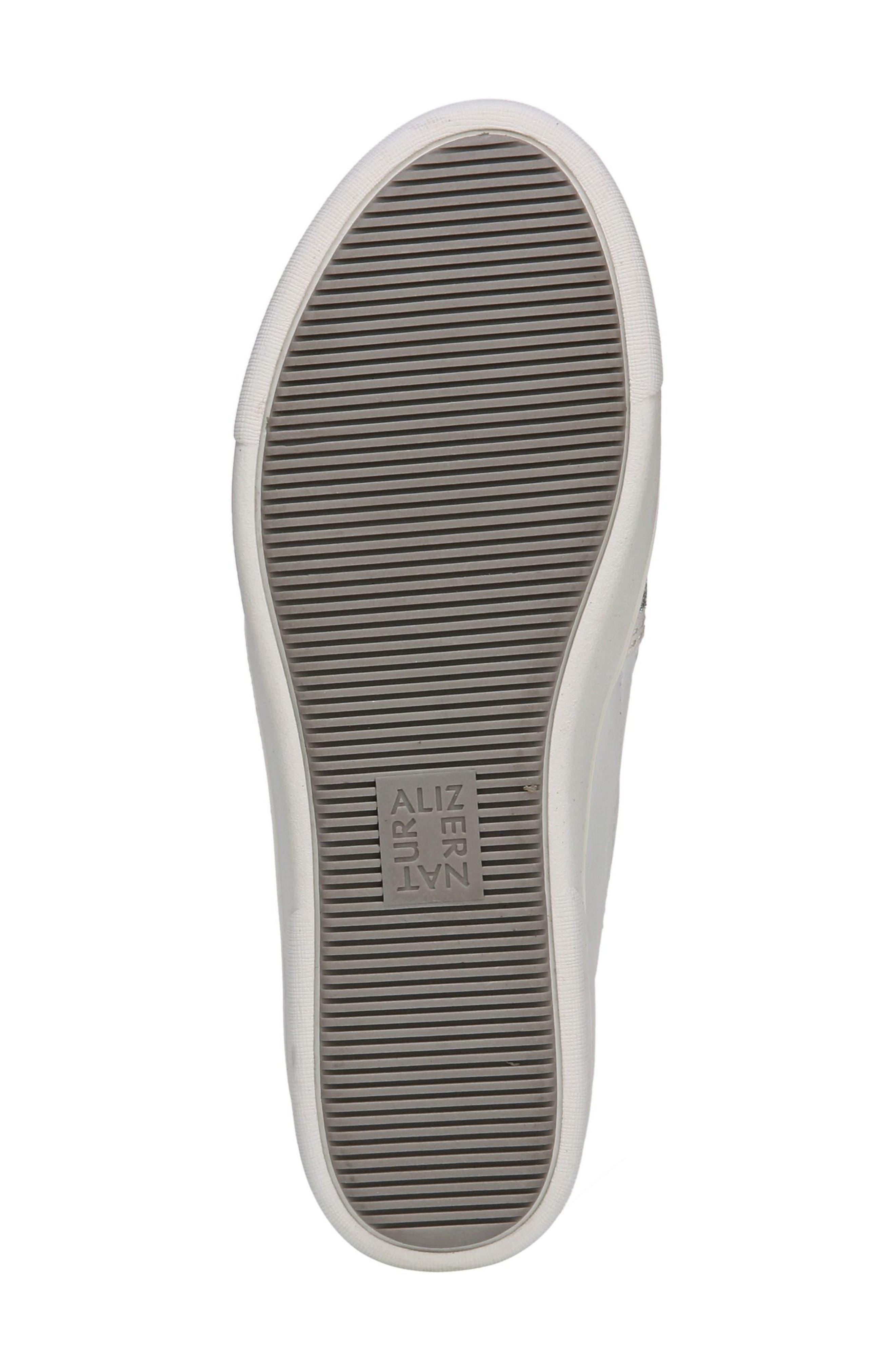 Marianne Slip-On Sneaker,                             Alternate thumbnail 5, color,                             White/ Silver Leather