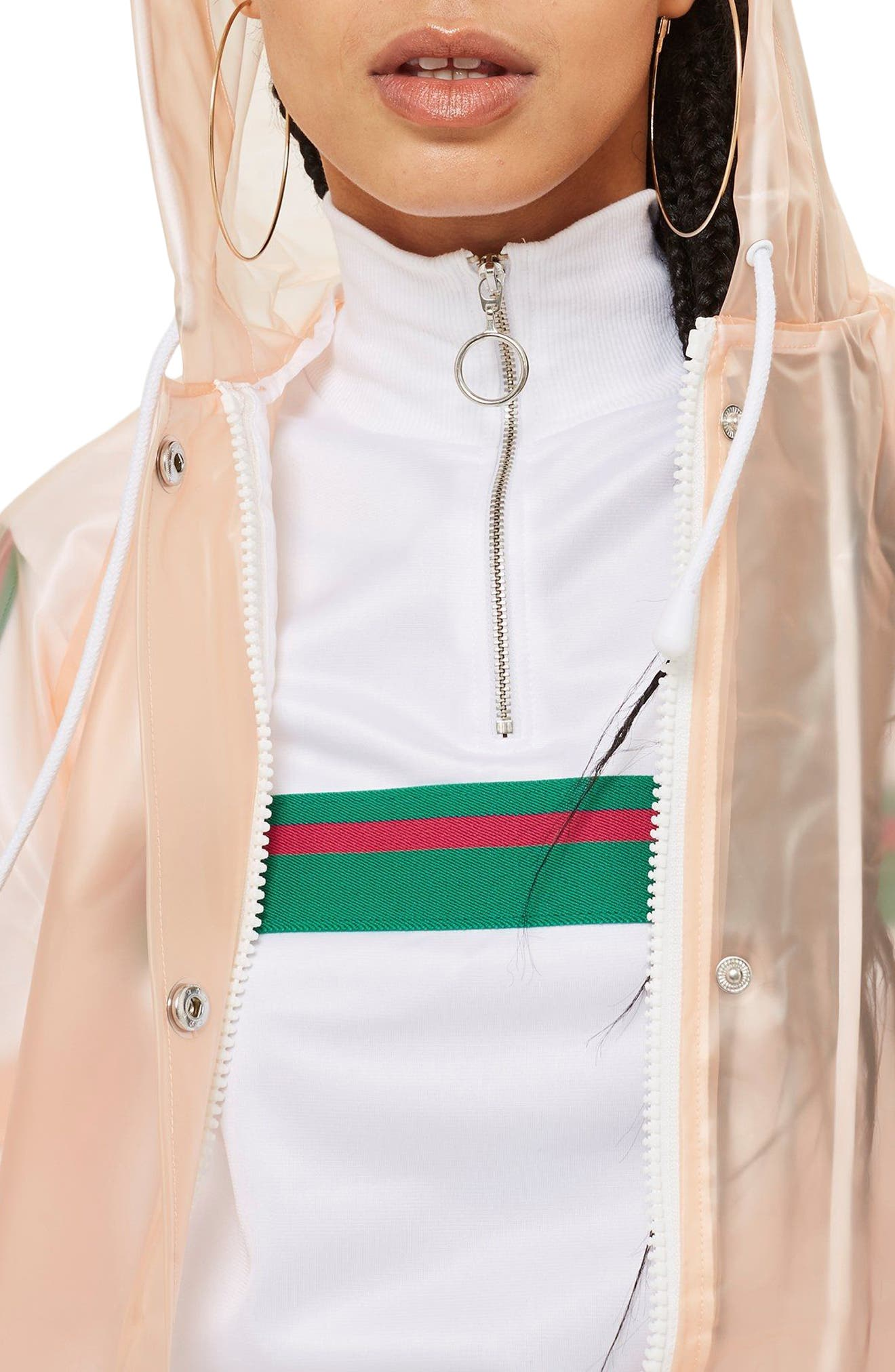 Frosted Marge Mac Rain Jacket,                             Alternate thumbnail 3, color,                             Peach Multi