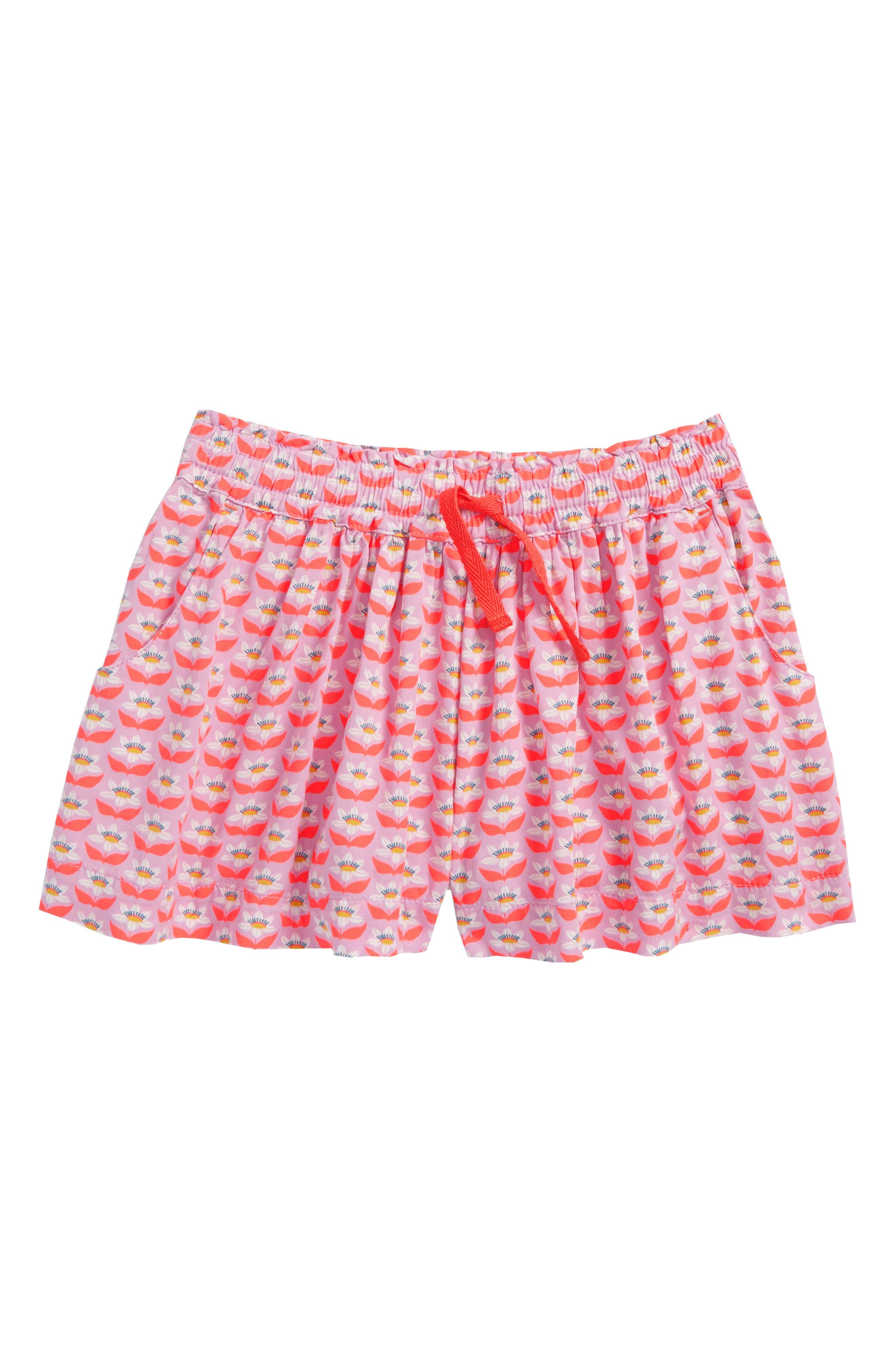Mini Boden Pretty Woven Shorts (Toddler Girls, Little Girls & Big Girls)