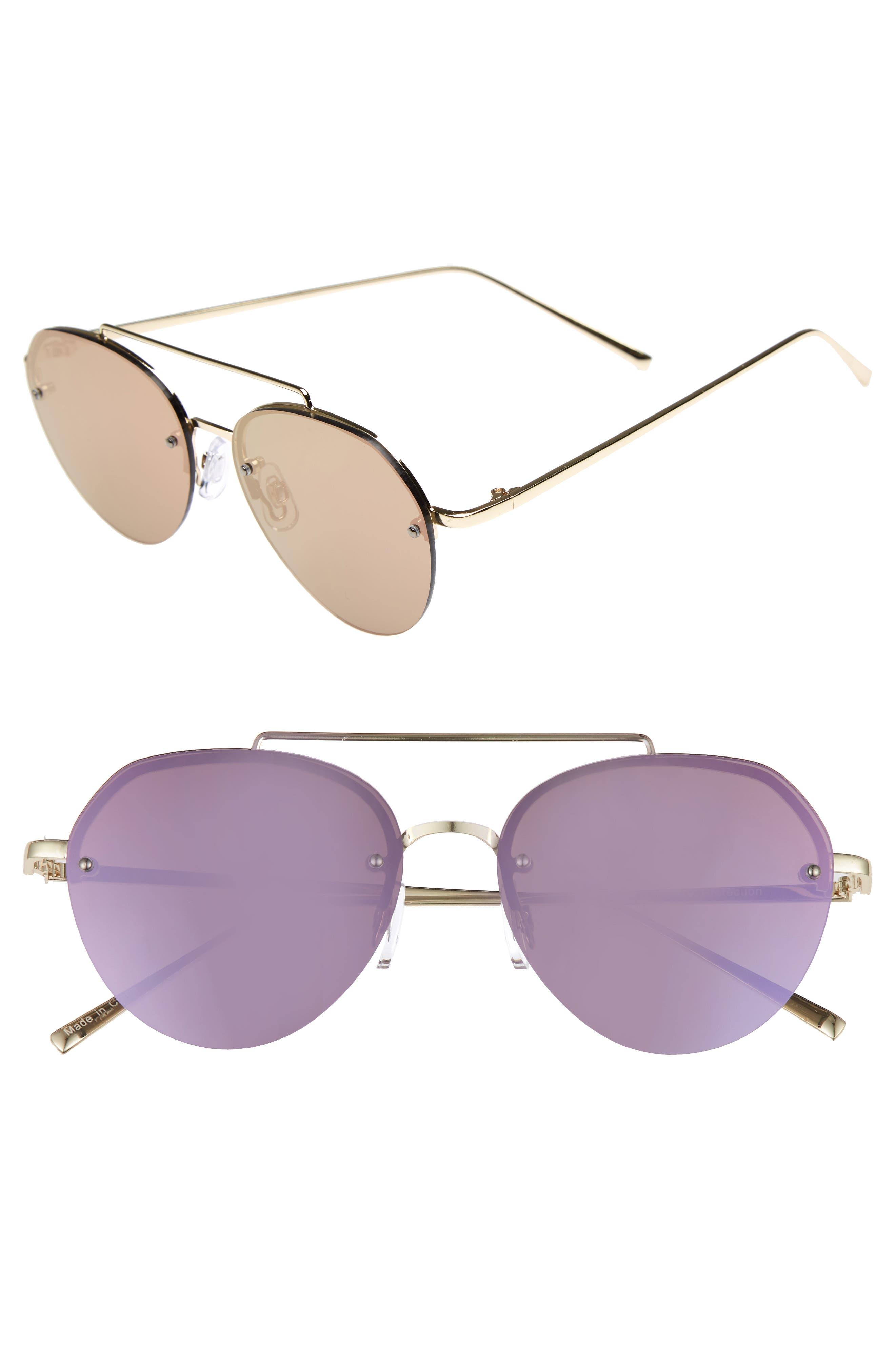 Gradient Petite Aviator Sunglasses,                             Main thumbnail 1, color,                             Lavender