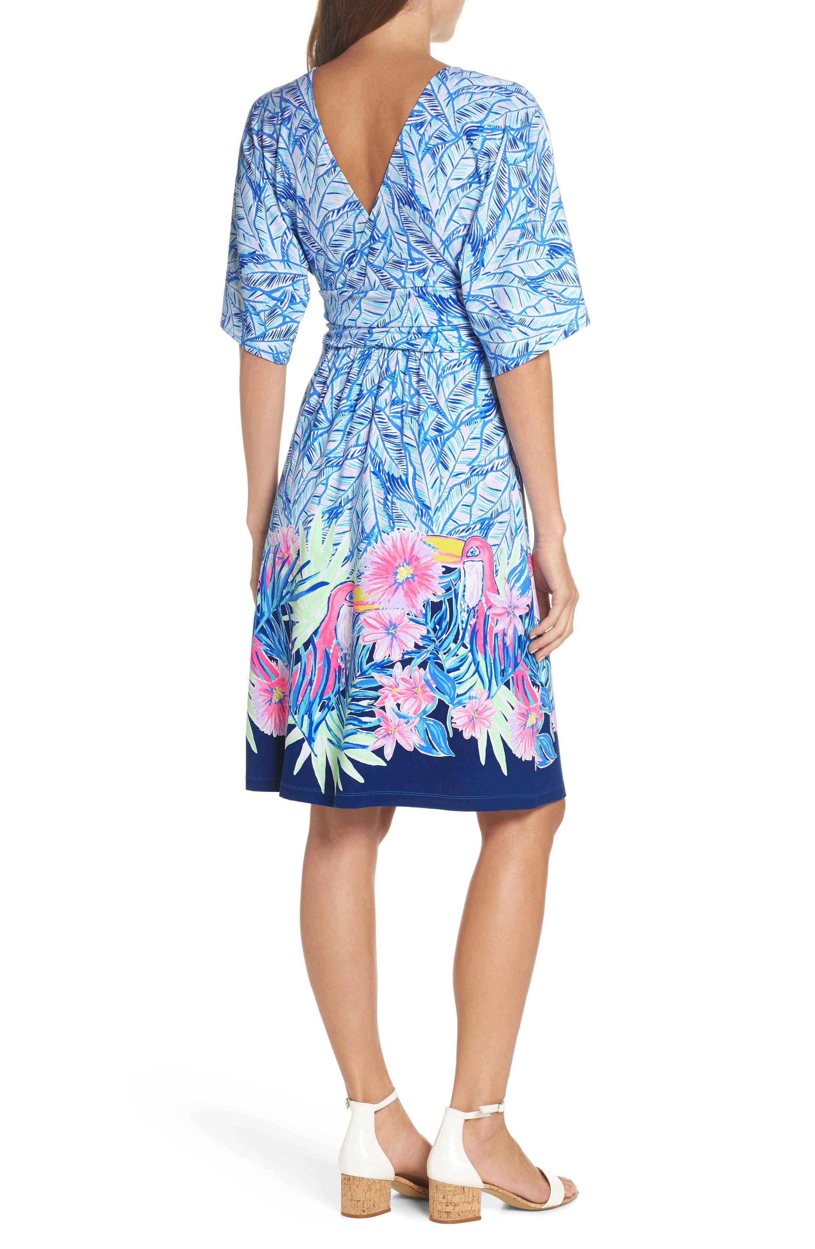 Parigi Print Dress,                             Alternate thumbnail 2, color,                             Bennet Blue Lets Mango