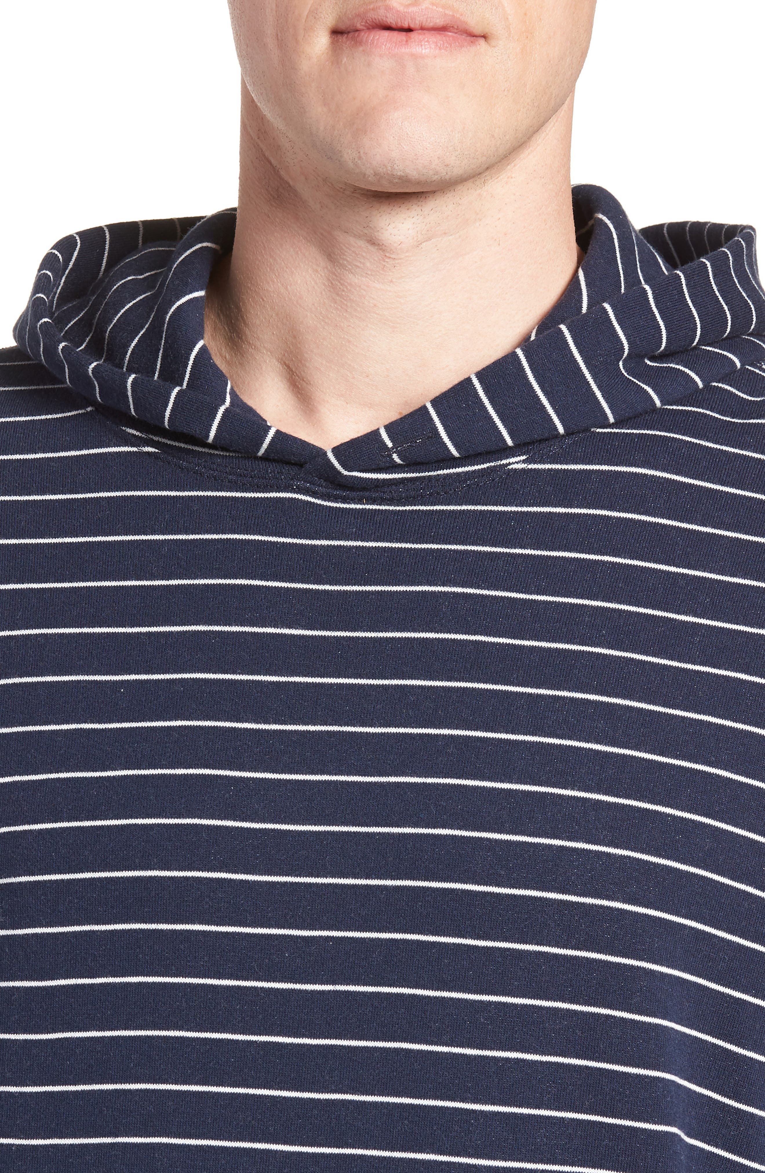 + Champion Stripe Pullover Hoodie,                             Alternate thumbnail 4, color,                             Navy
