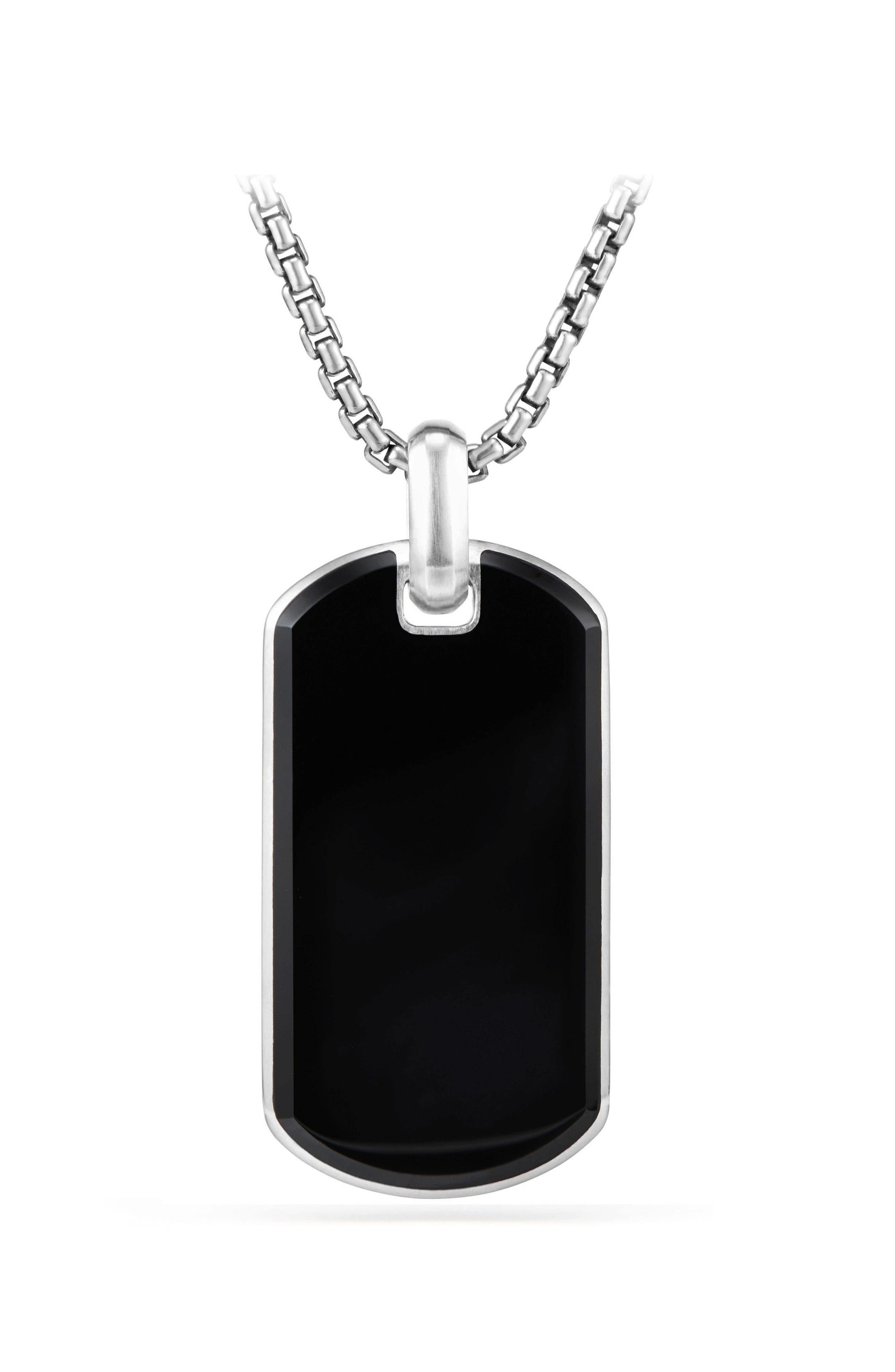 Exotic Black Onyx Stone Tag,                         Main,                         color, Black Onyx