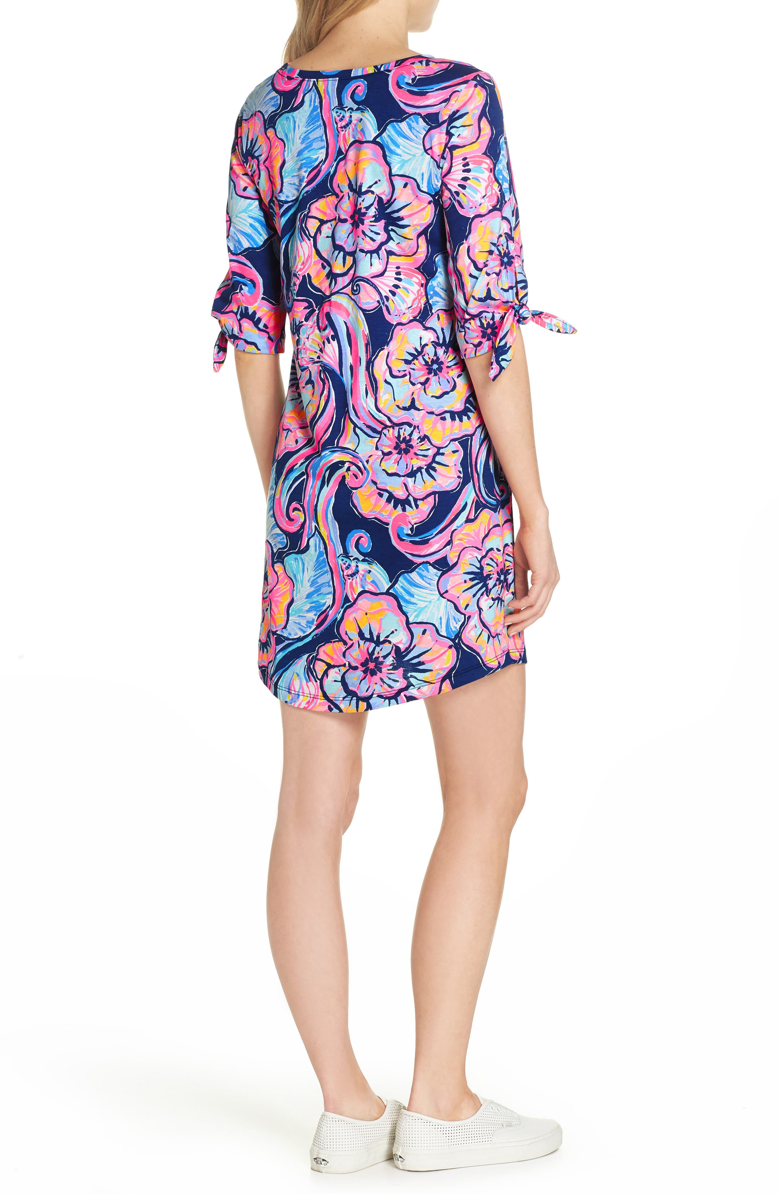 Preston Shift Dress,                             Alternate thumbnail 2, color,                             Nauti Navy Boho Bateau