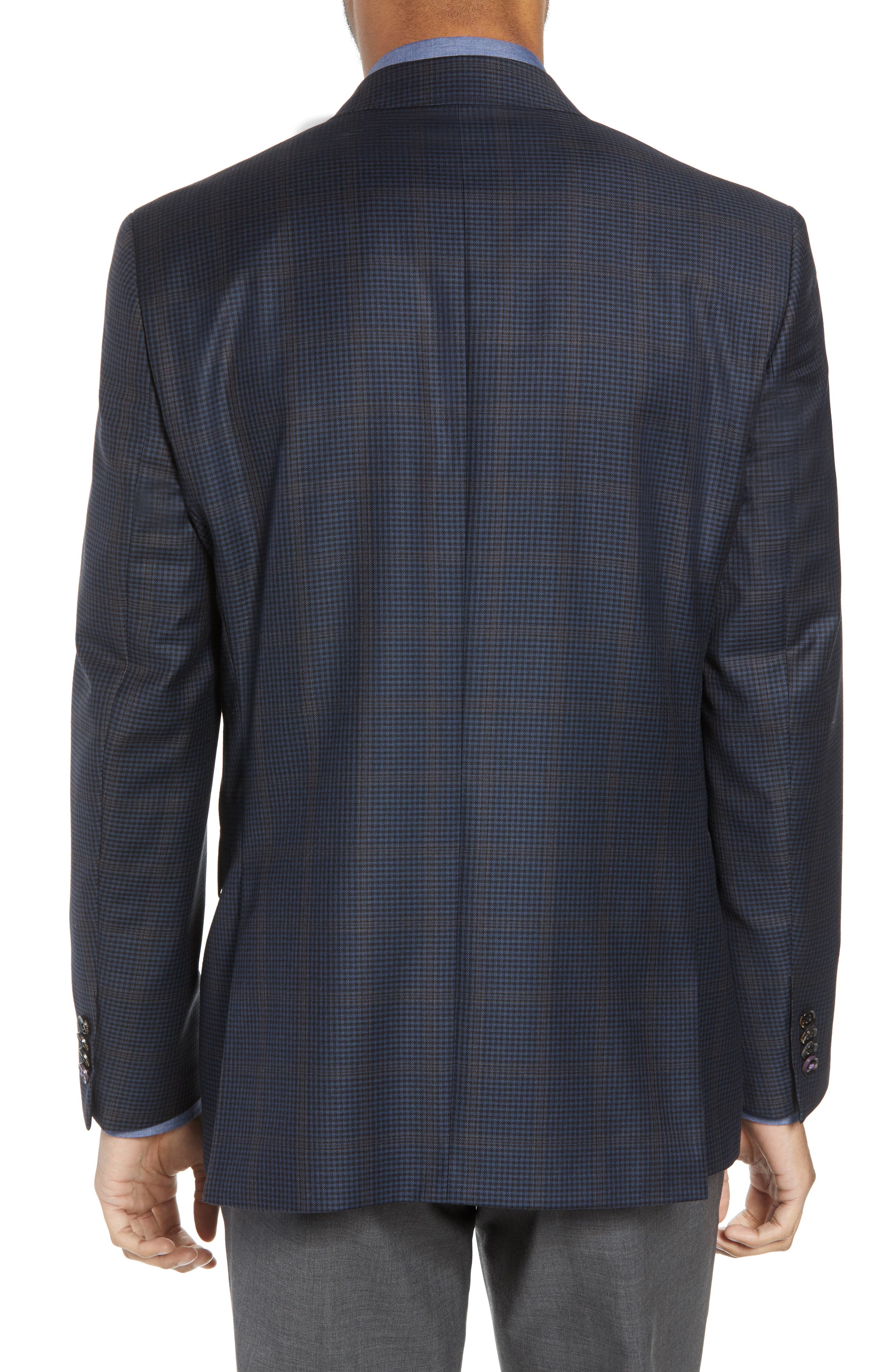 Jay Trim Fit Houndstooth Wool Sport Coat,                             Alternate thumbnail 2, color,                             Blue