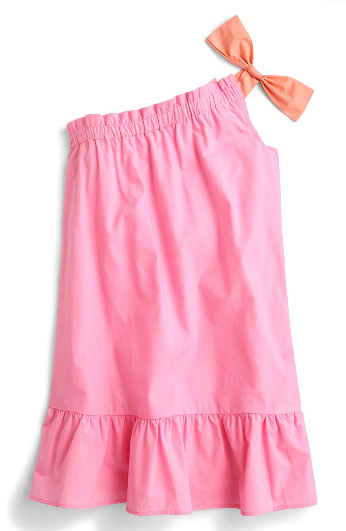 Calpurnia One-Shoulder Dress,                             Main thumbnail 1, color,                             Neon Bubblegum Pk5446