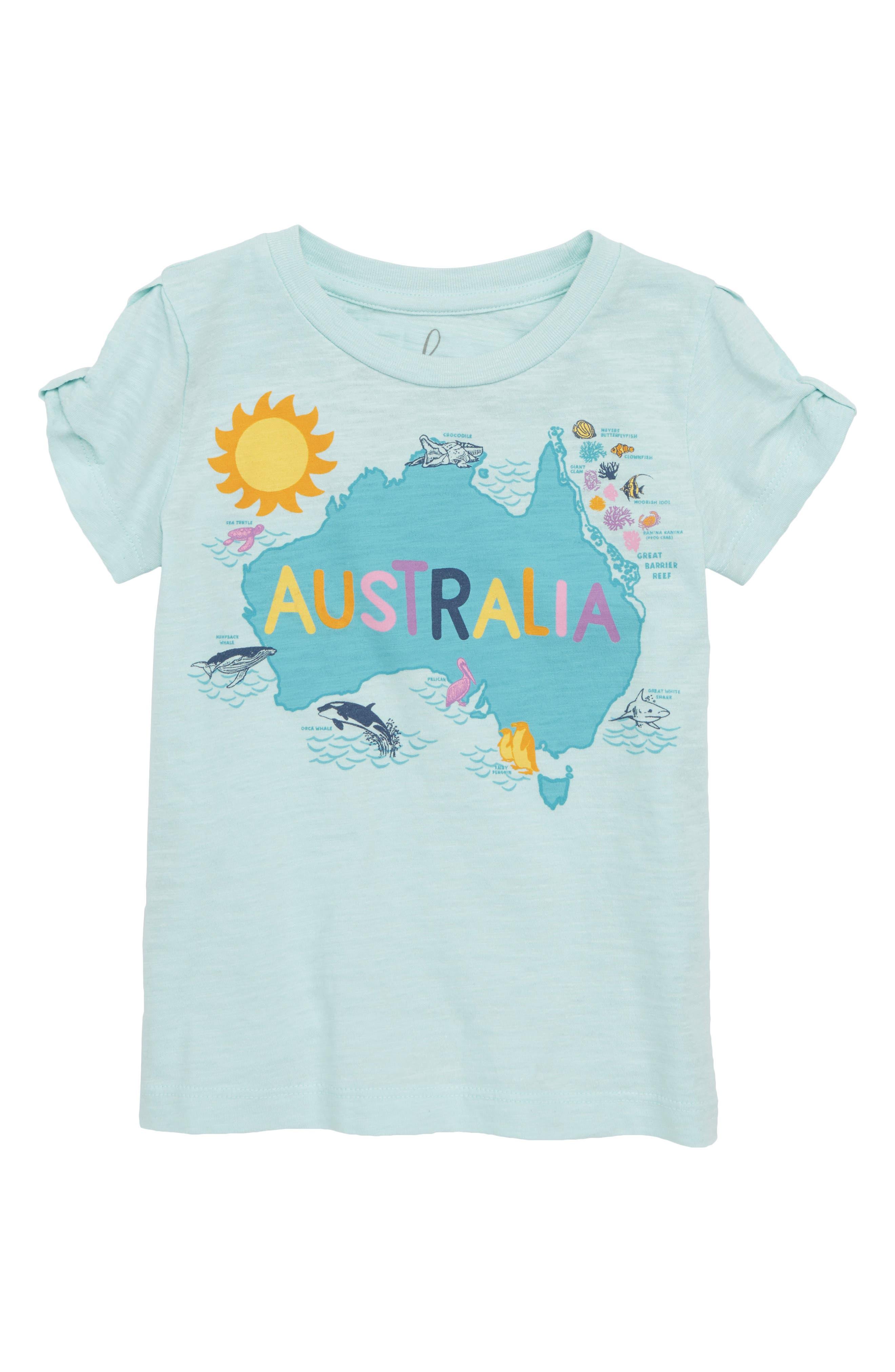 Peek Australia Tee (Toddler Girls, Little Girls & Big Girls)