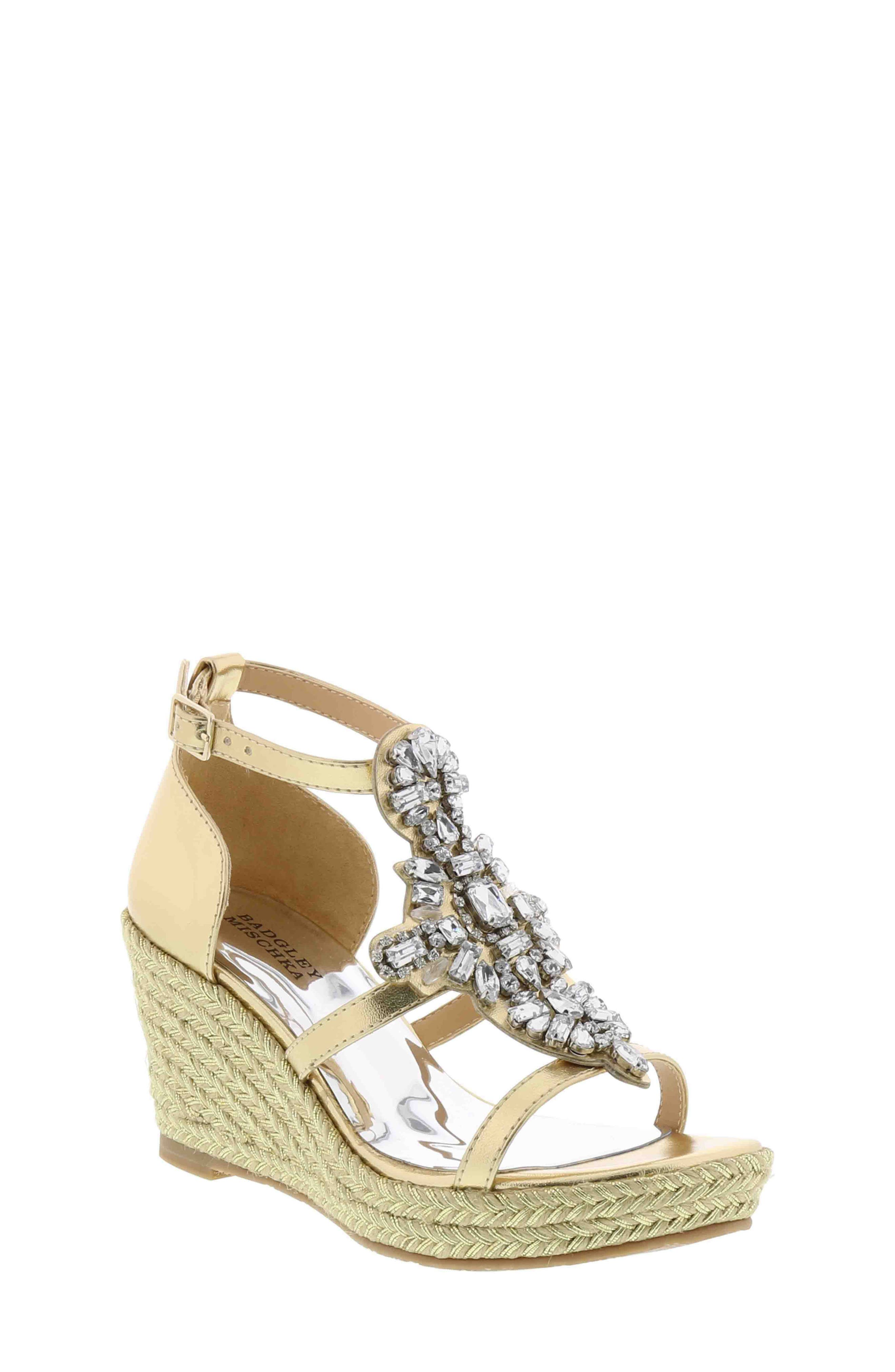 Badgley Mischka Sophia Barre Wedge Sandal (Toddler, Little Kid & Big Kid)