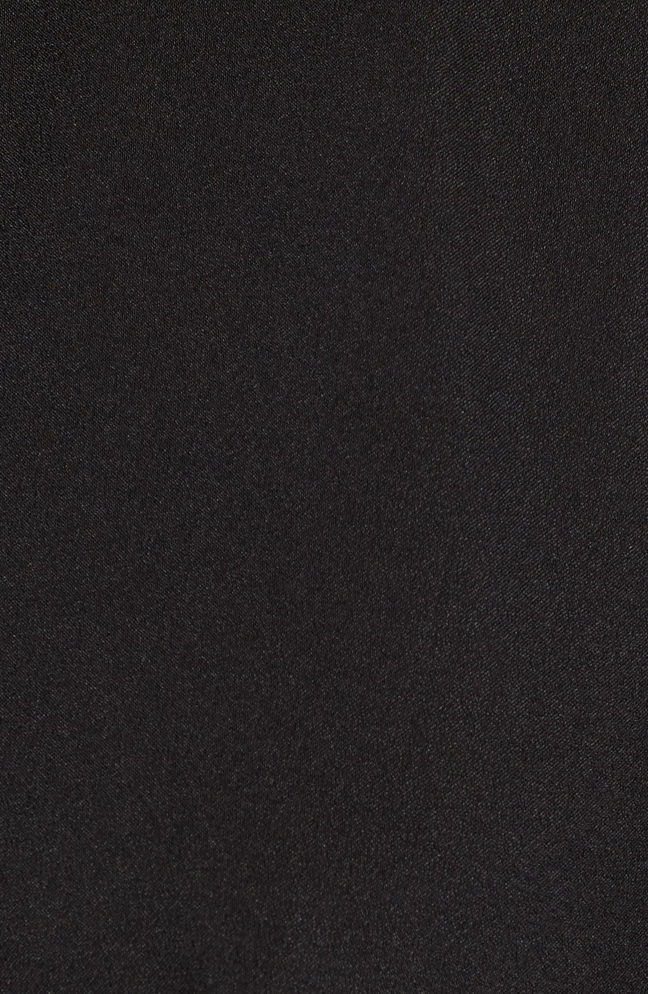 Tie Front Dress,                             Alternate thumbnail 6, color,                             Black