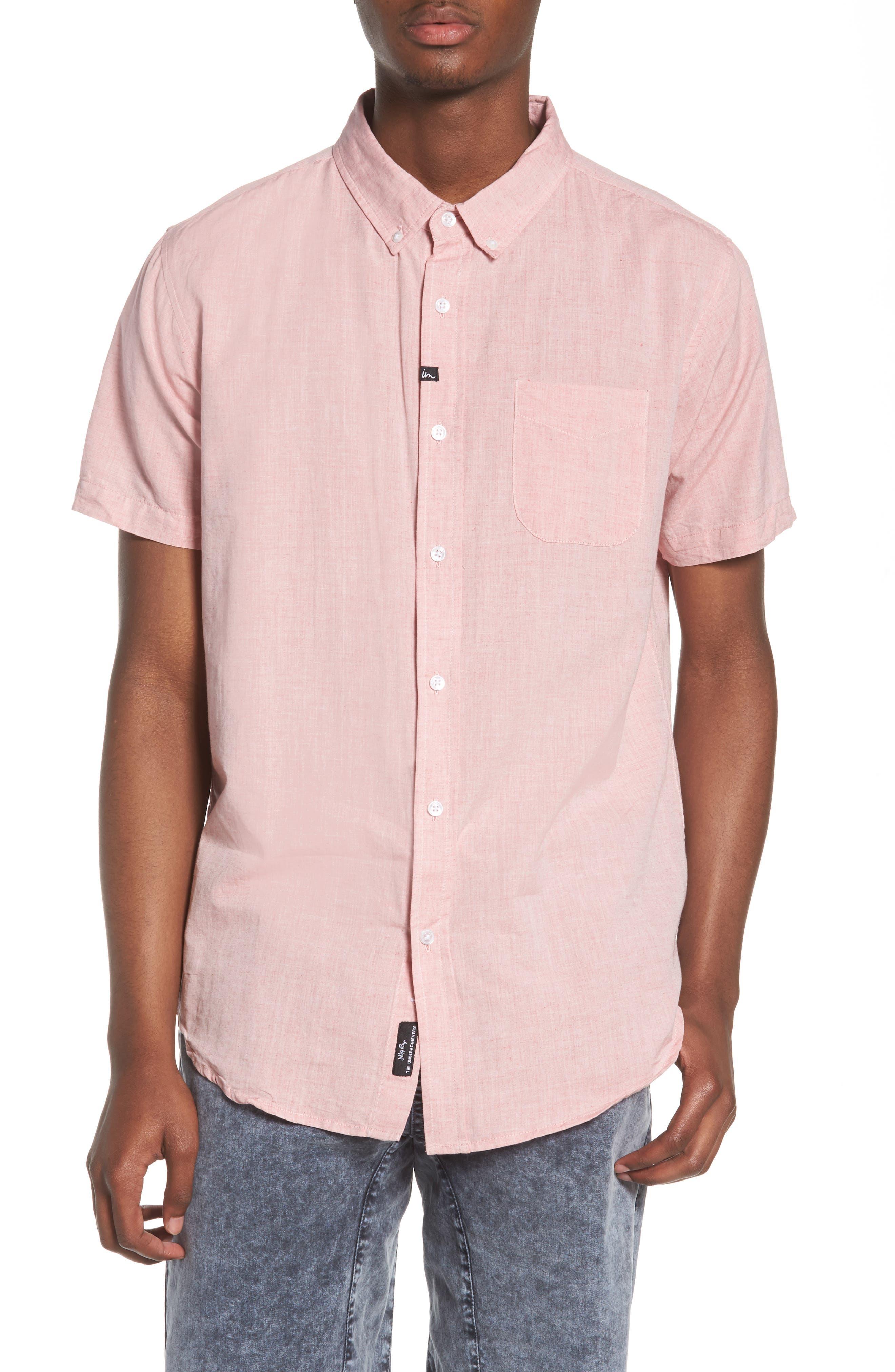 Triumph Woven Shirt,                             Main thumbnail 1, color,                             Mahogany