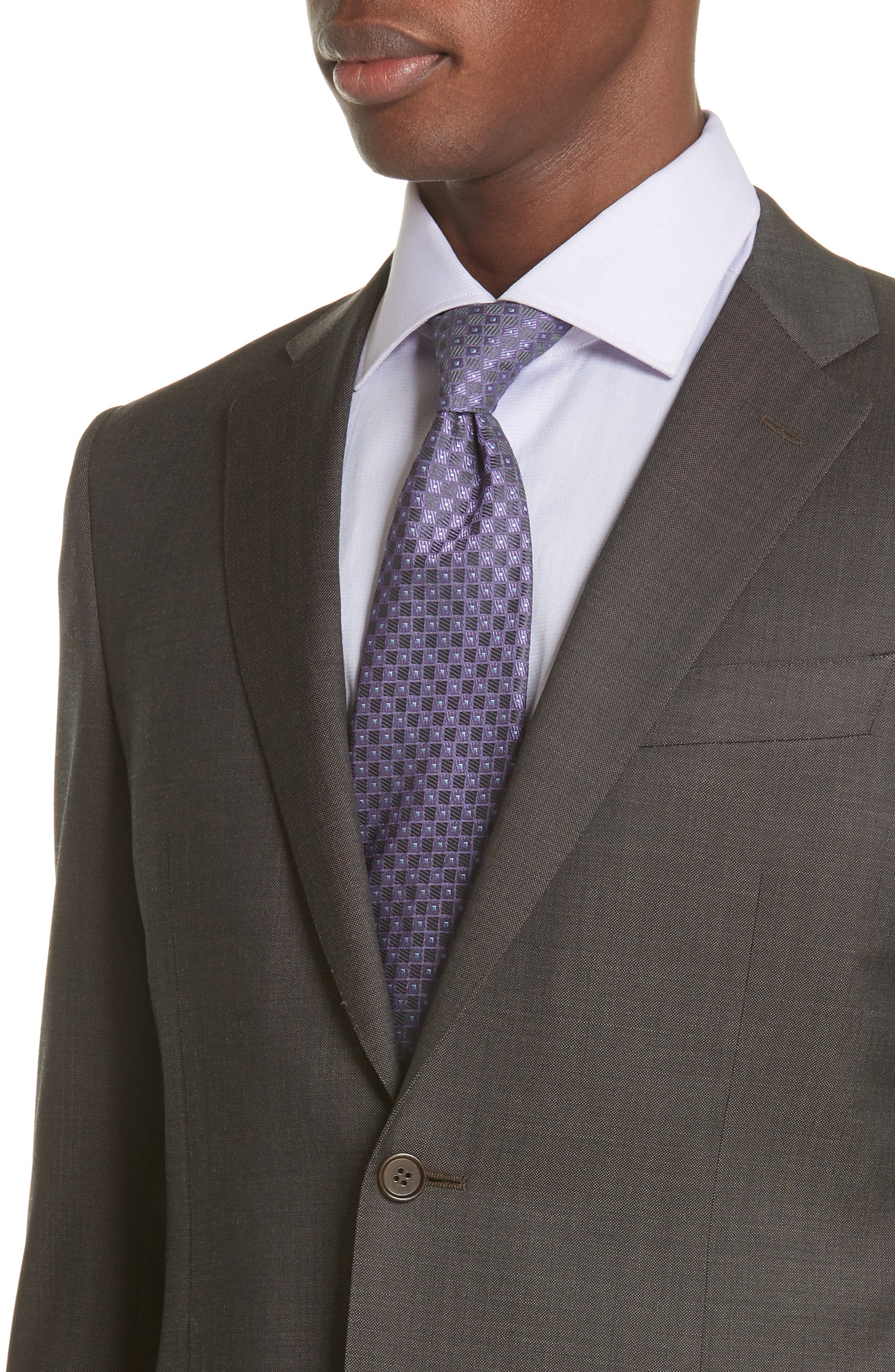 Classic Fit Solid Wool Suit,                             Alternate thumbnail 4, color,                             Grey