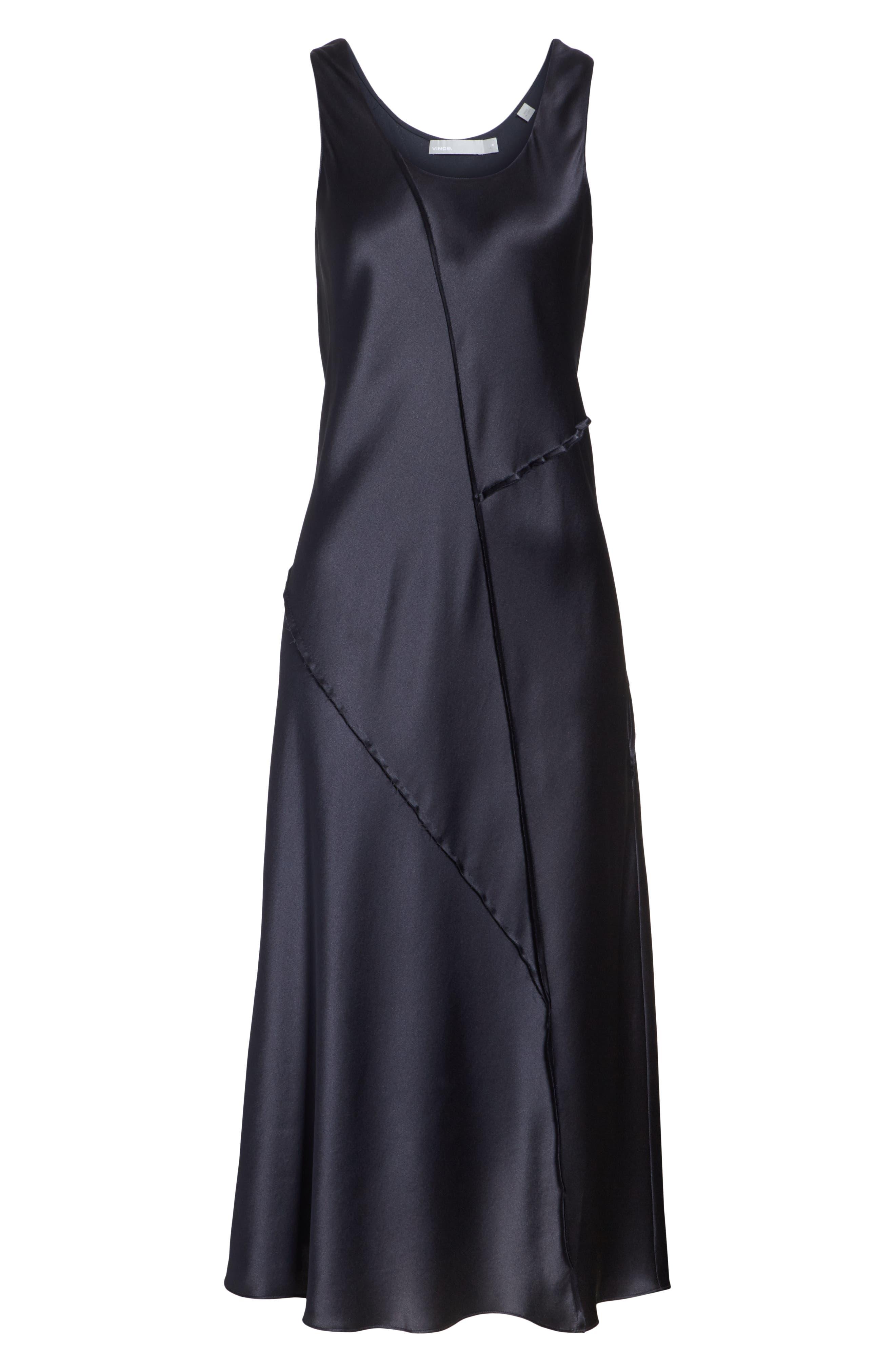 Silk Tank Dress,                             Alternate thumbnail 6, color,                             Iron