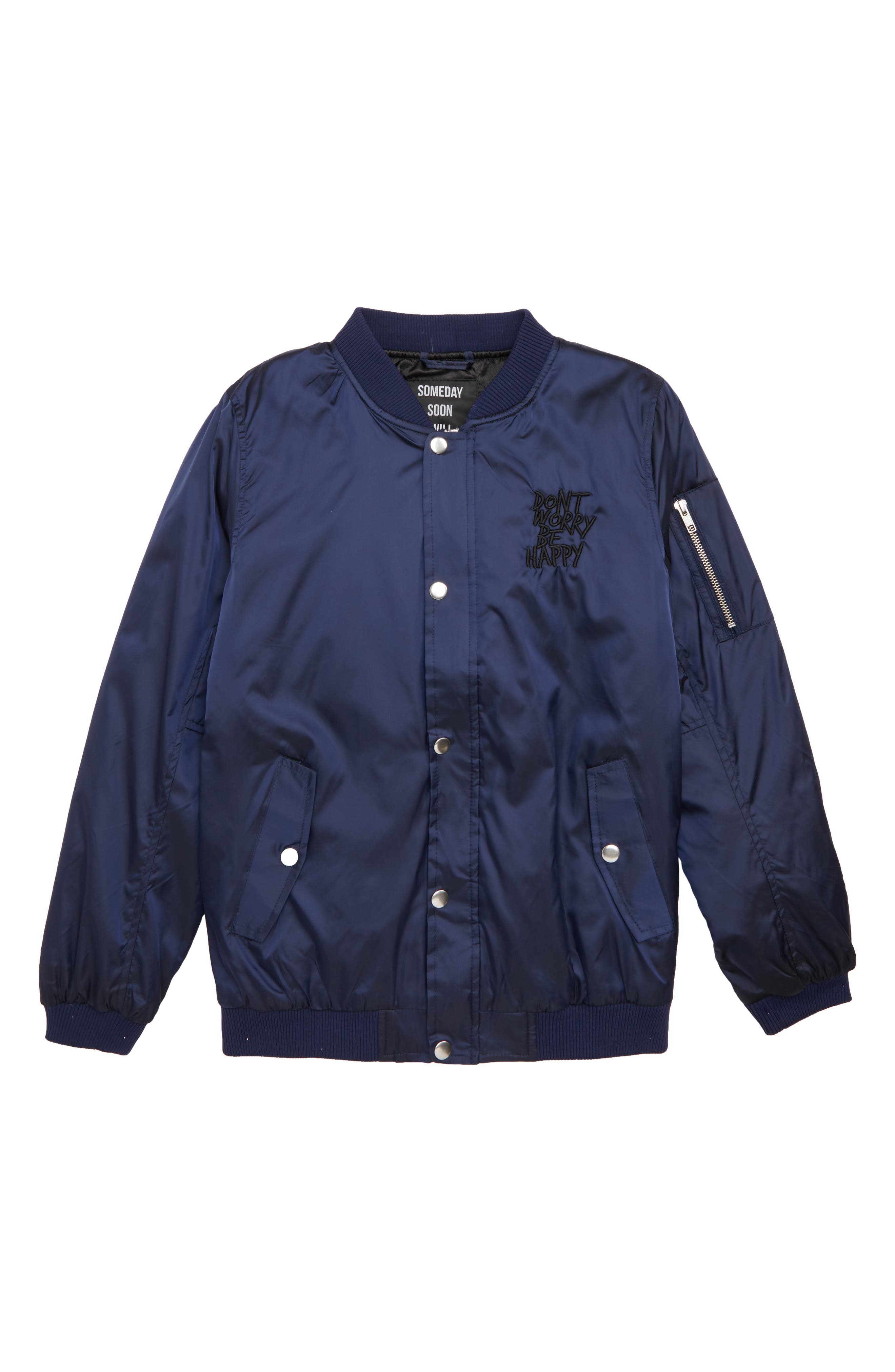SOMEDAY SOON Perry Bomber Jacket (Big Boys)