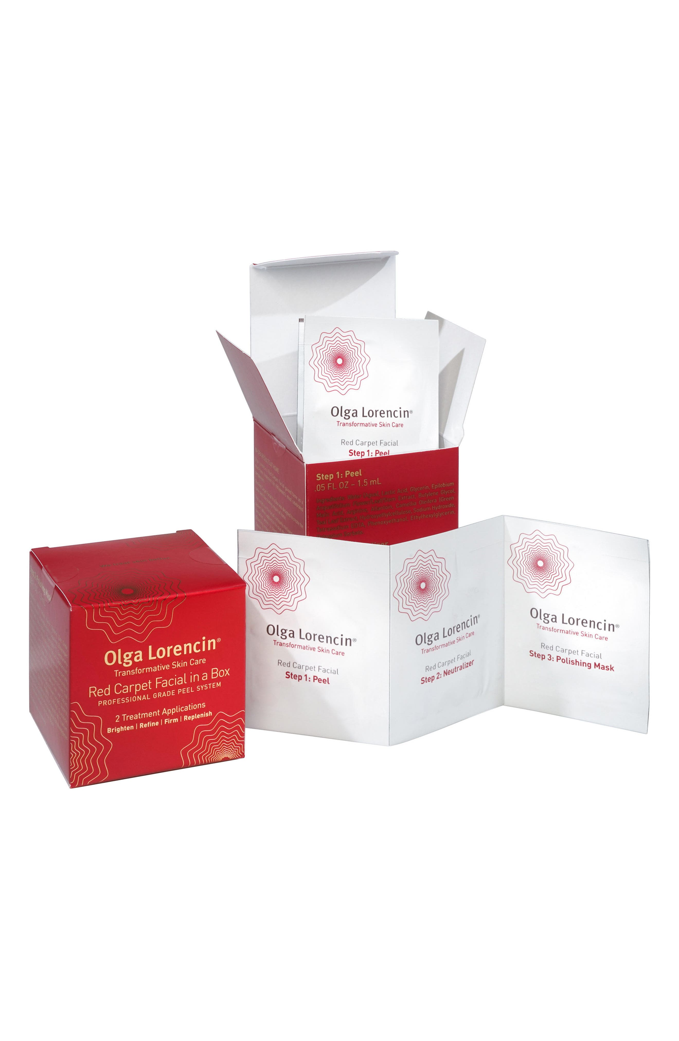 Red Carpet Facial in a Box Travel Set,                         Main,                         color, No Color