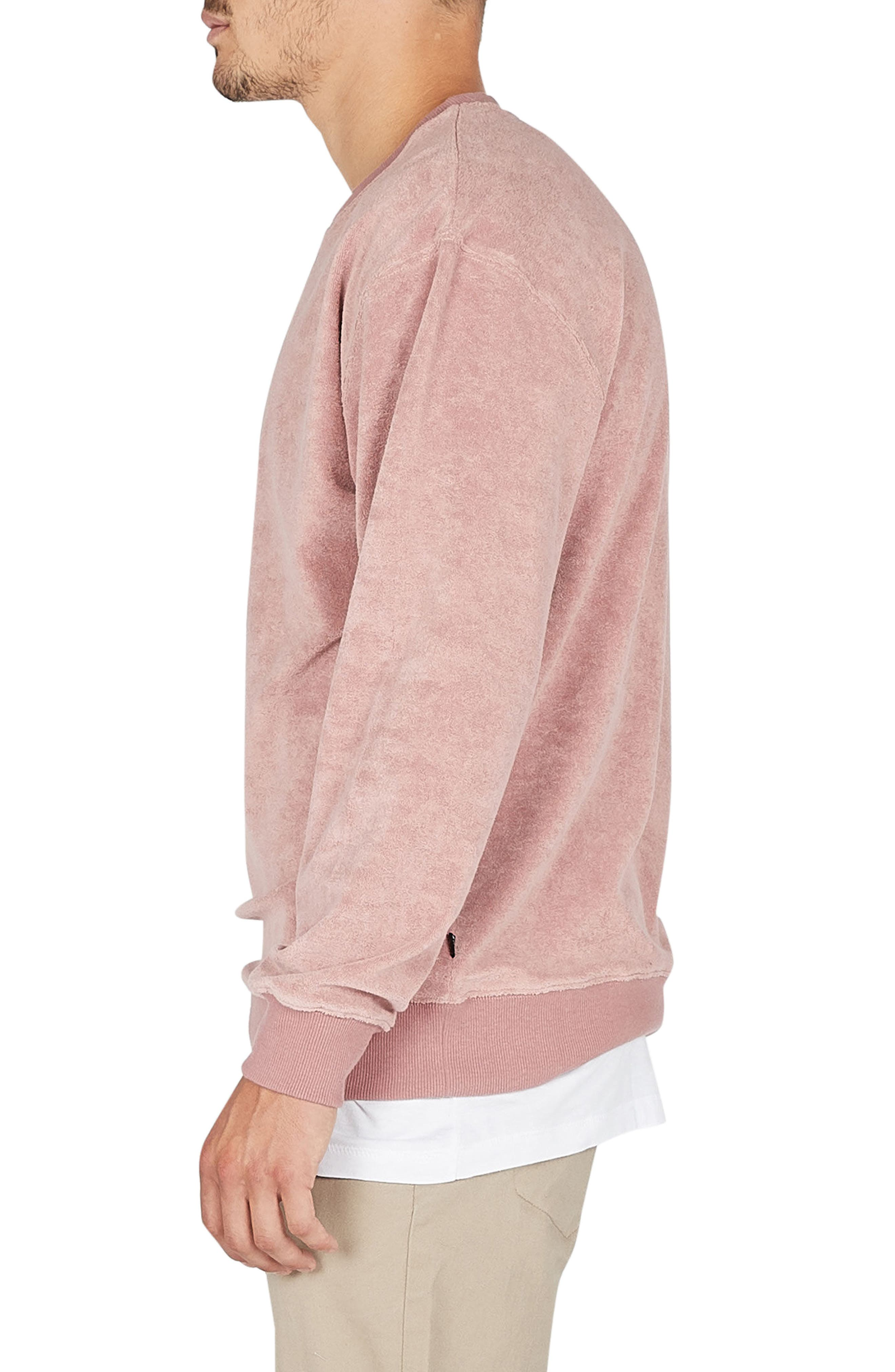 Terry Sweatshirt,                             Alternate thumbnail 3, color,                             Rose