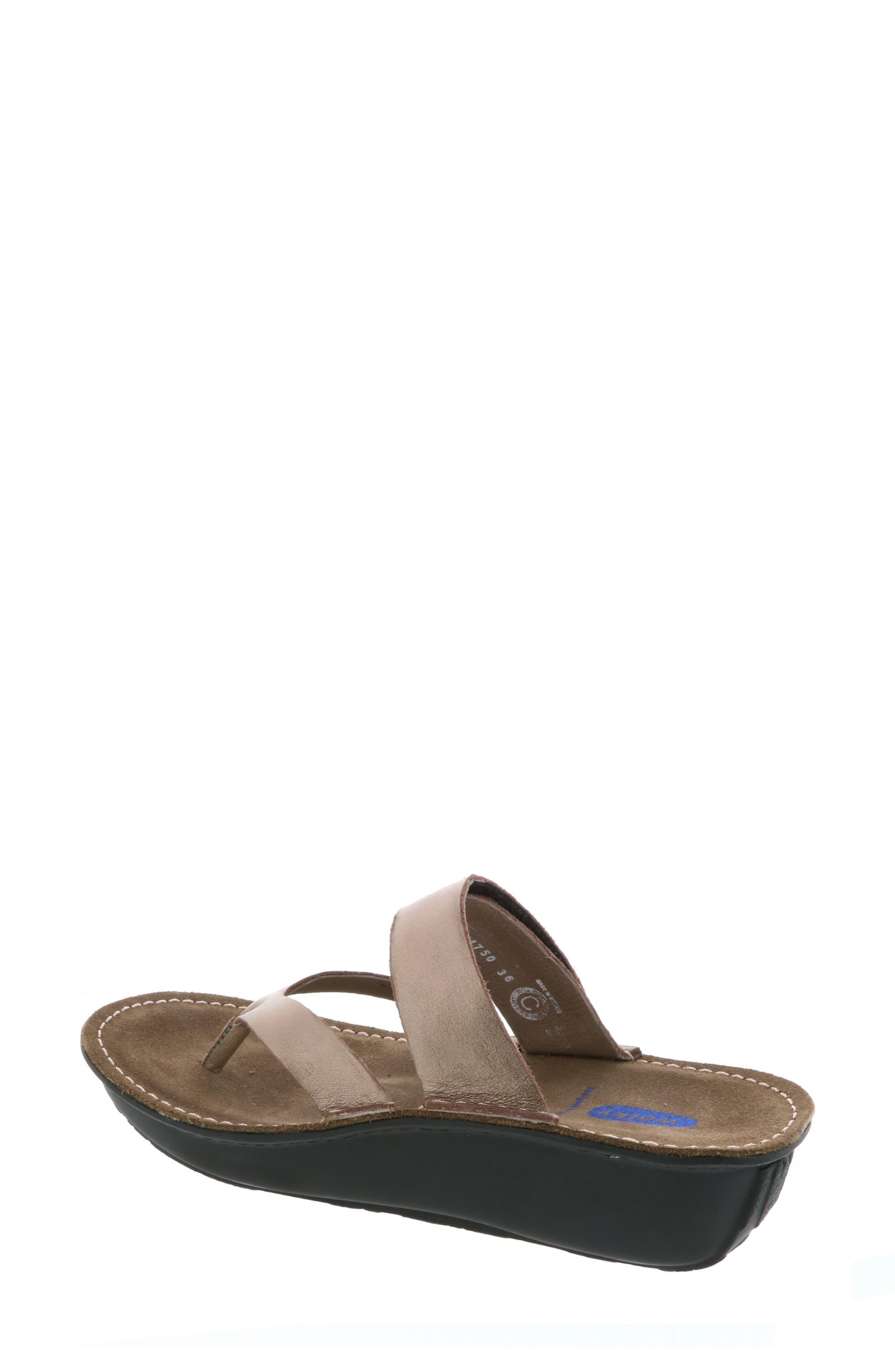 Tahiti Platform Sandal,                             Alternate thumbnail 2, color,                             Bronze Metallic