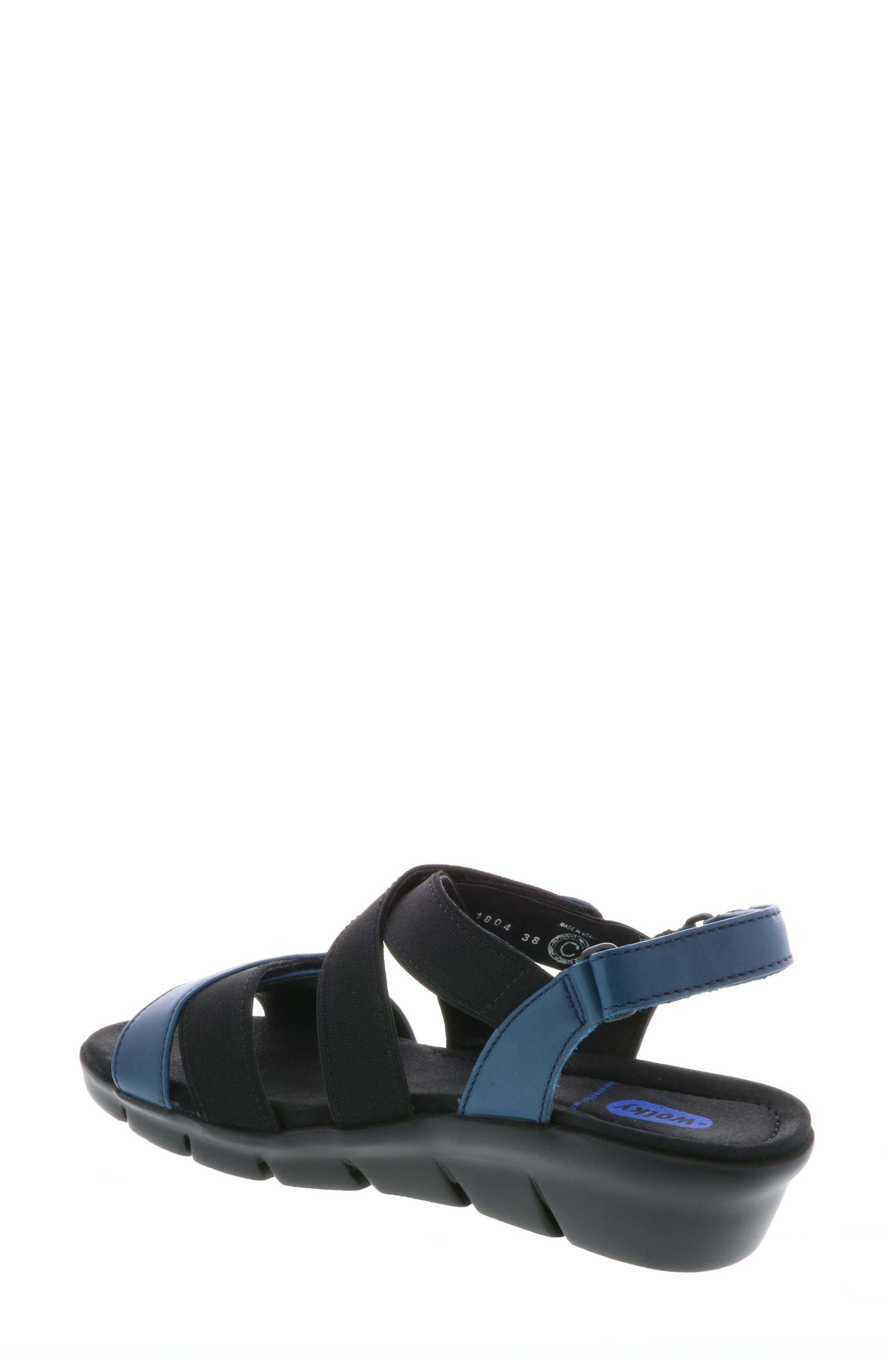 Electra Sandal,                             Alternate thumbnail 2, color,                             Blue Faux Leather