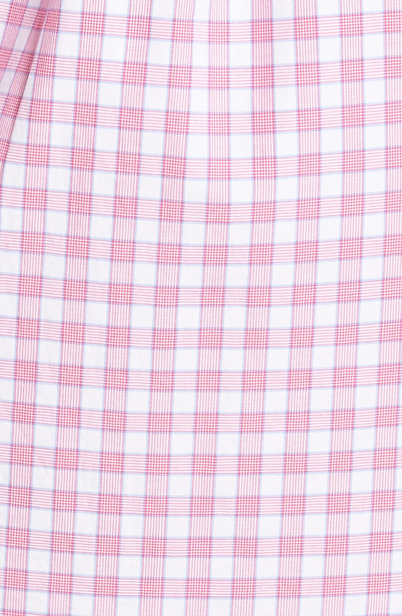 Crown Finish Marsh Regular Fit Check Sport Shirt,                             Alternate thumbnail 5, color,                             Mambo Pink
